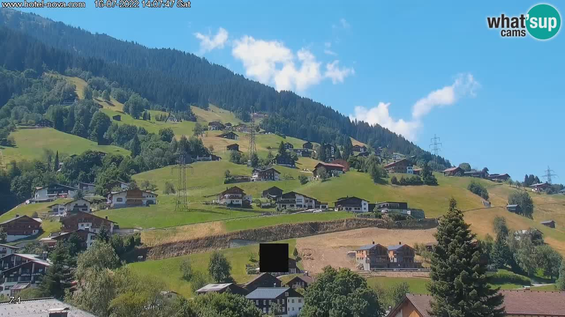 Gaschurn live webcam Hotel Nova – Montafon