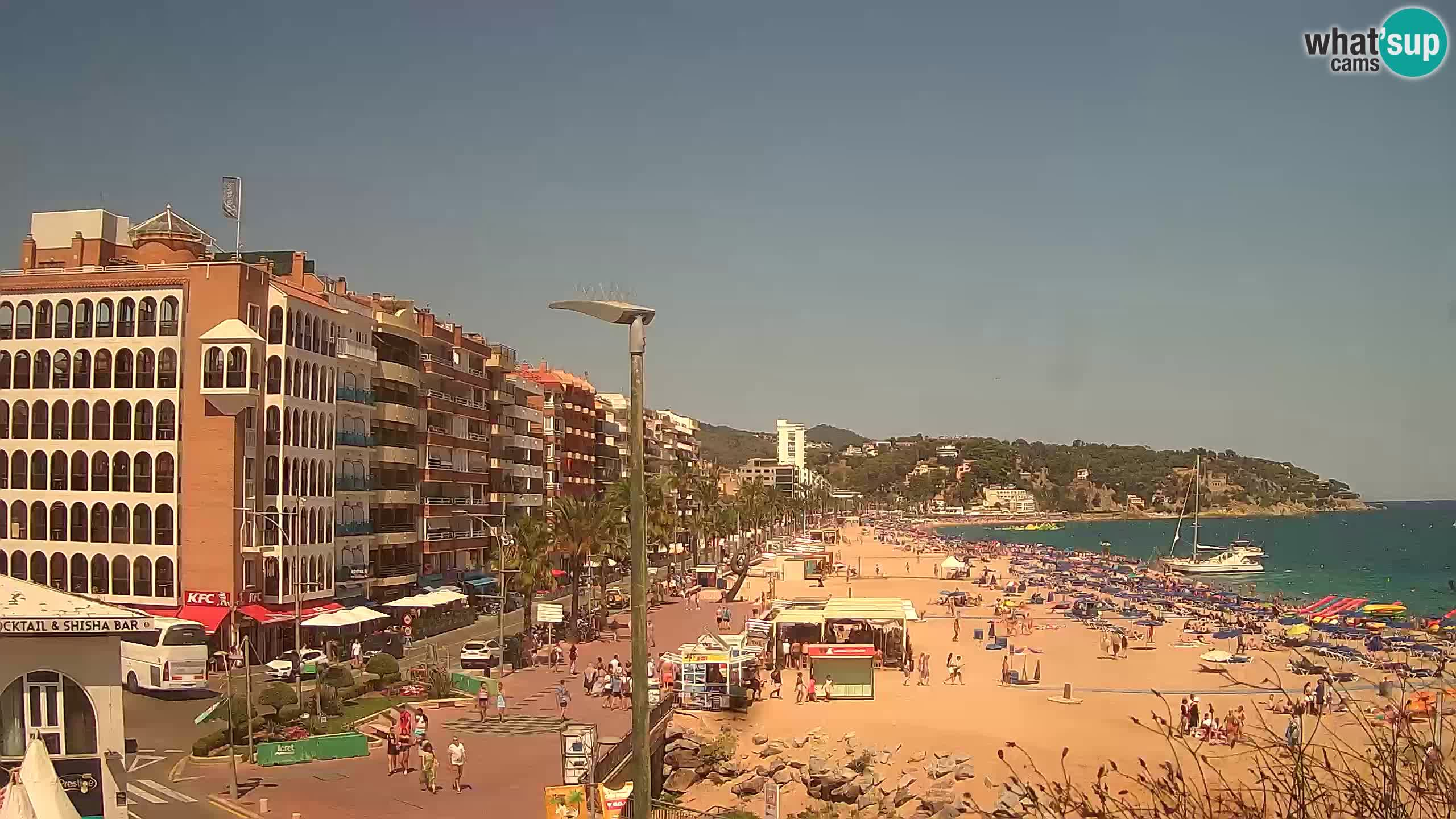 Webcam Lloret de Mar – Zentralen Strand