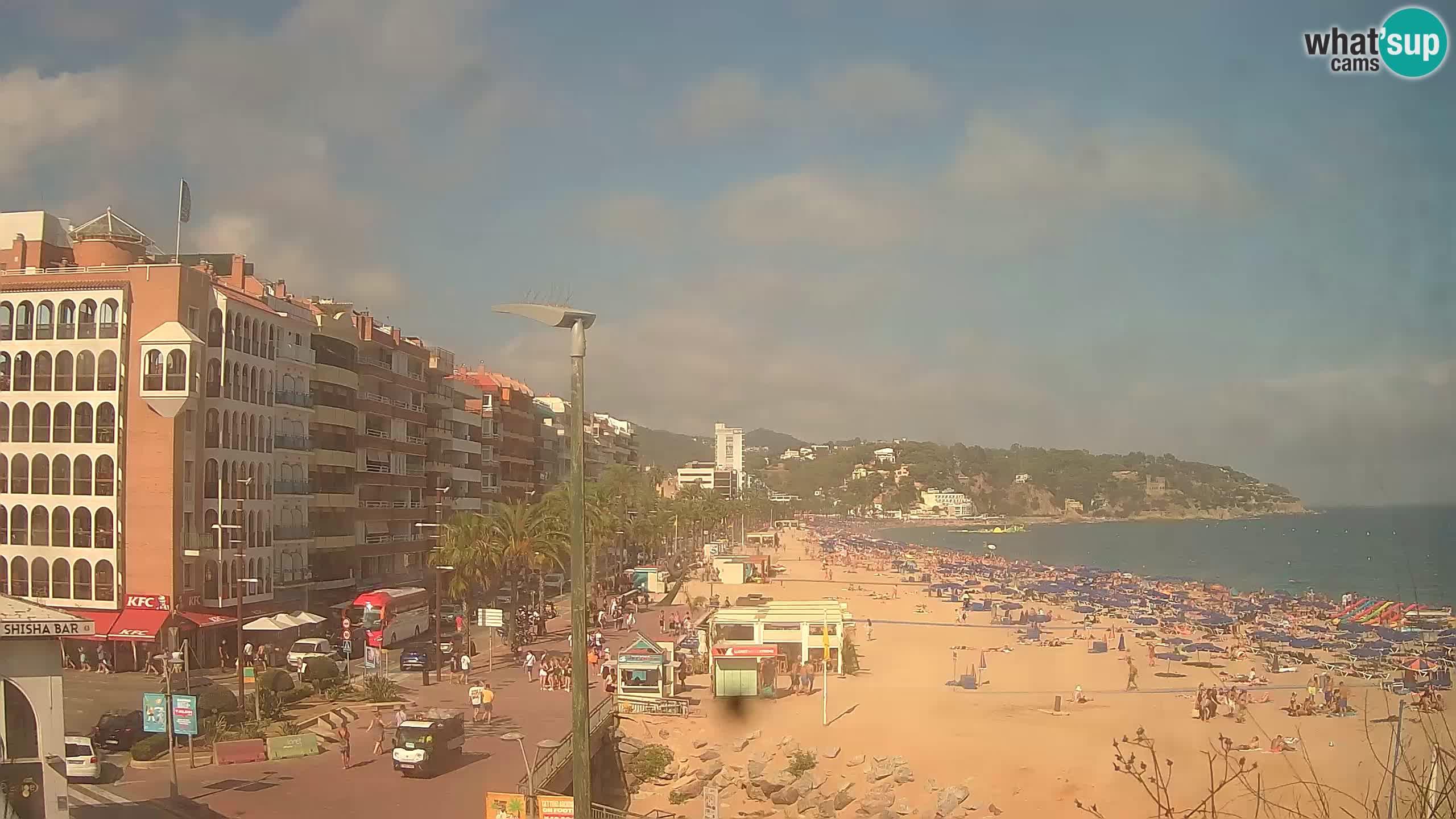 Kamera v živo Lloret de Mar – Glavna plaža