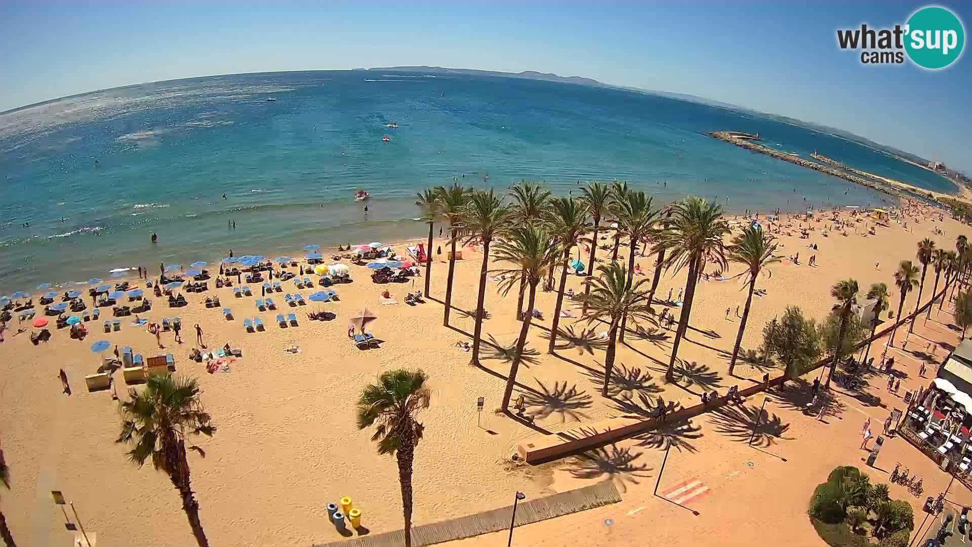Kamera v Živo Roses plaža – pogled s hotela Montecarlo