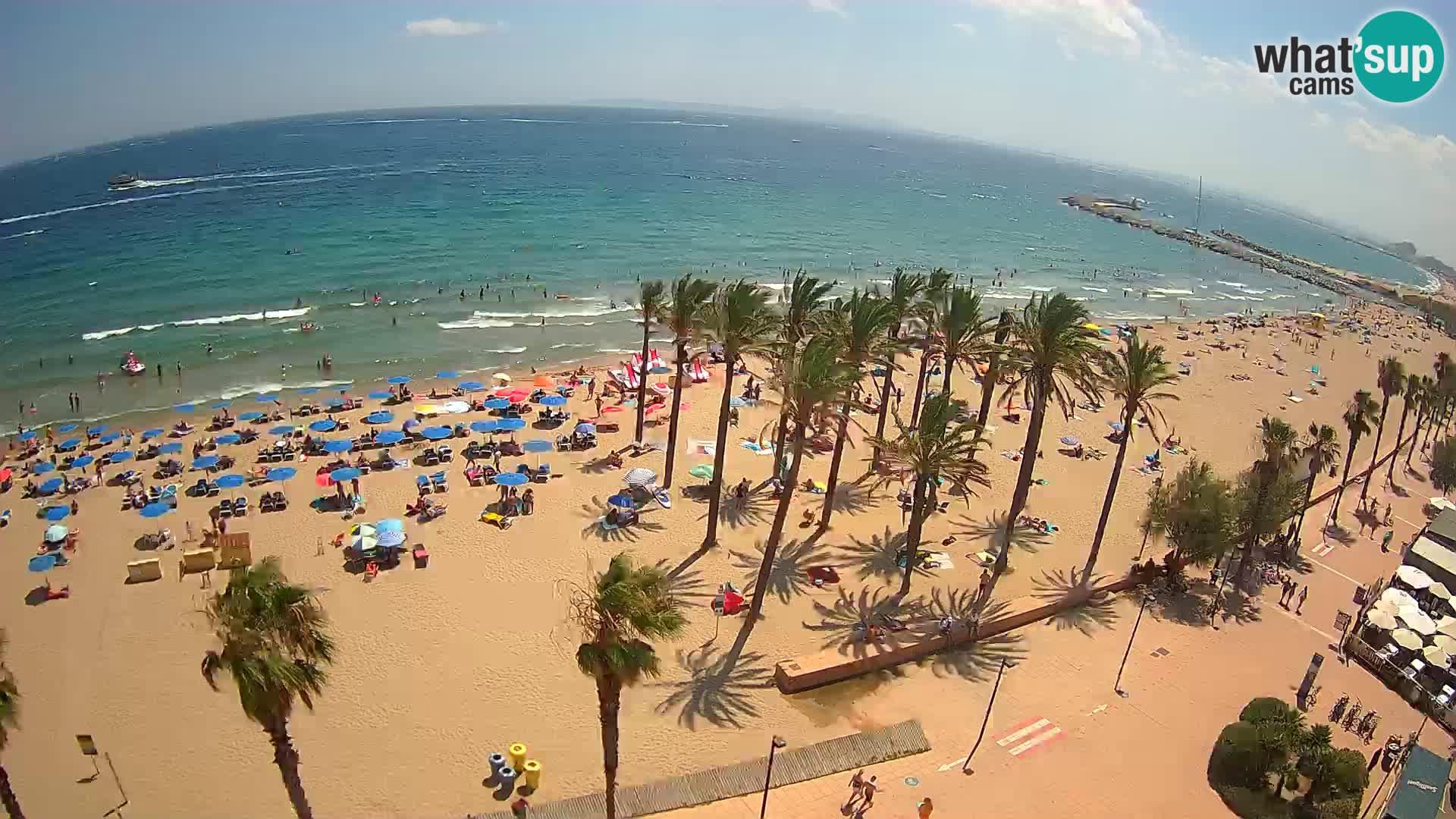 LIVEcam Roses plage – Hotel Montecarlo