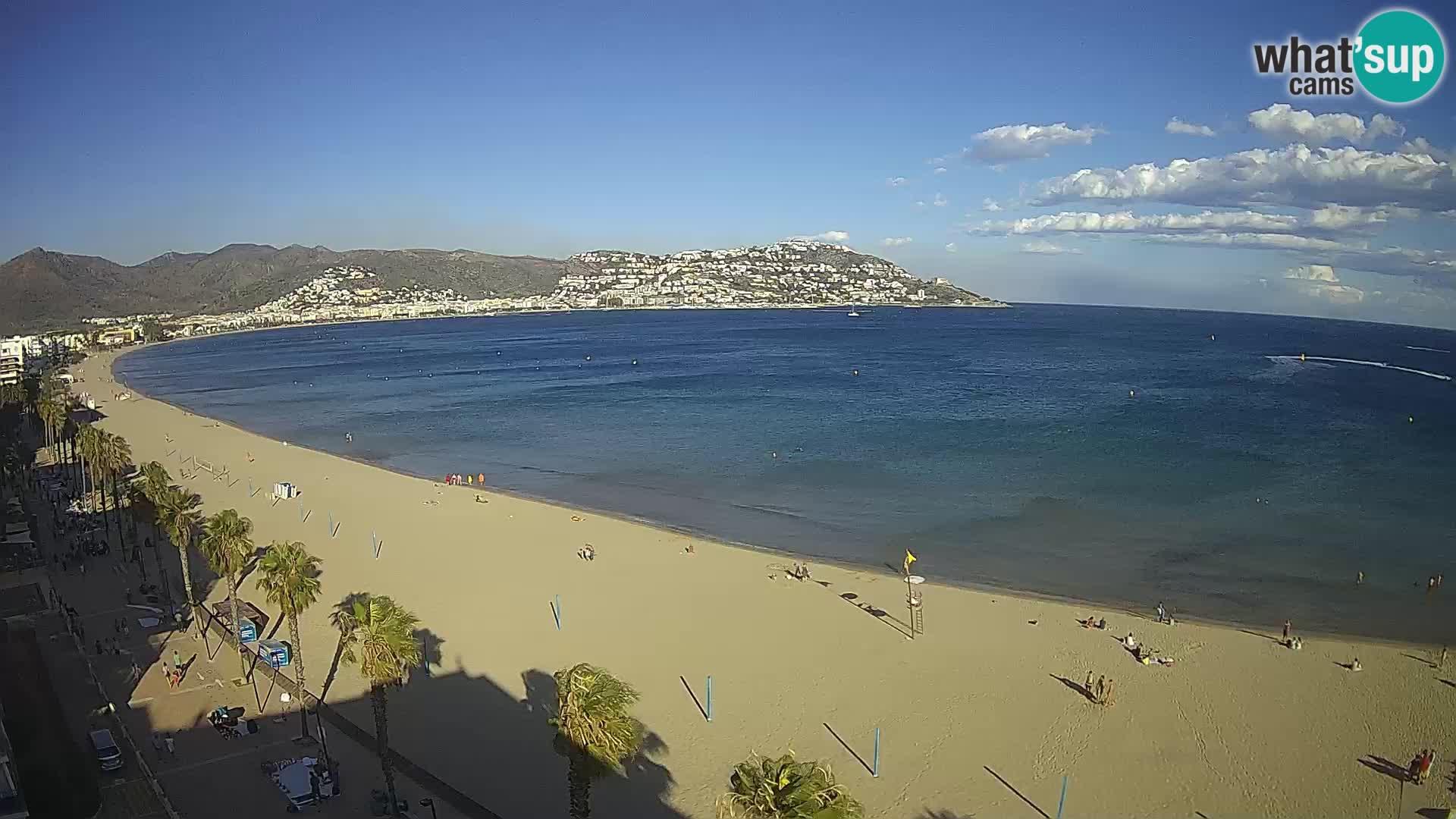 Live cam Roses  – Costa Brava spiaggia – Hotel MonteCarlo