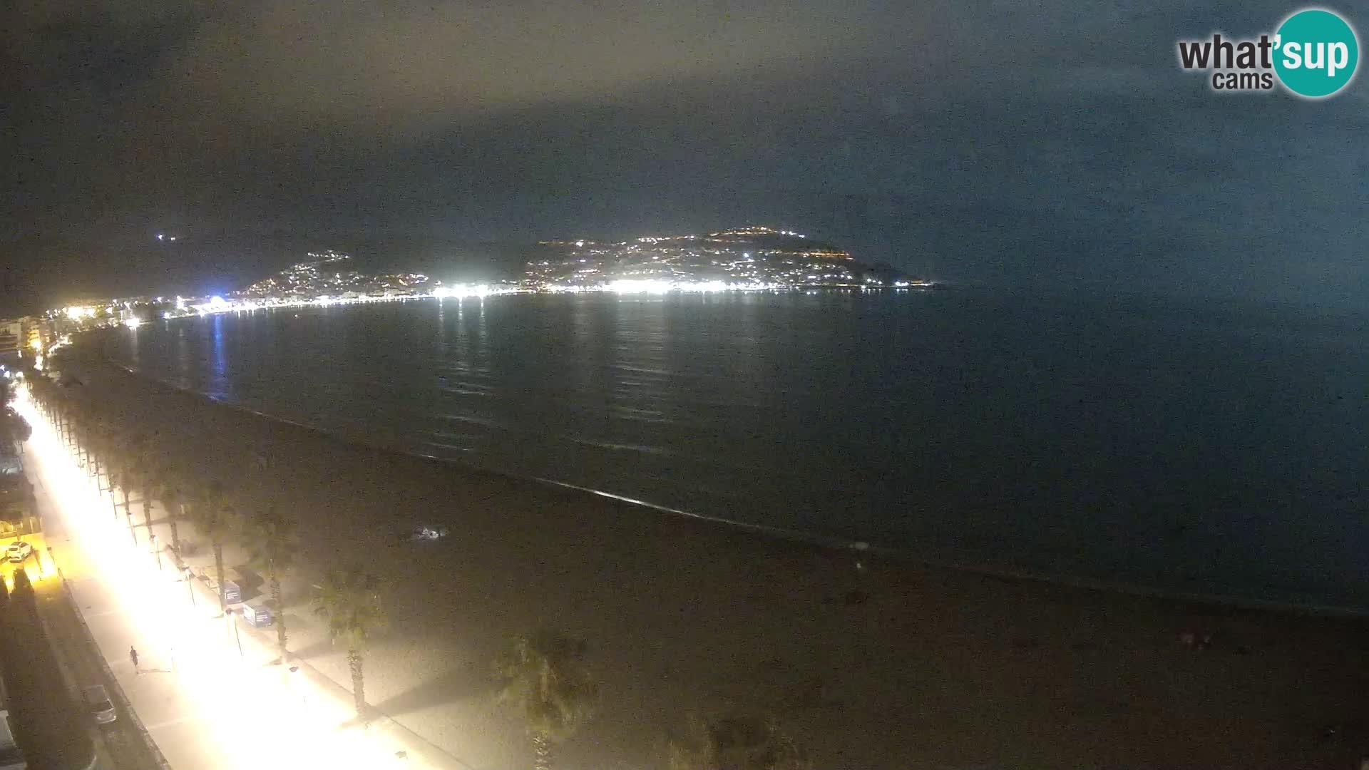 Live Roses Webcam Costa Brava beach view from MonteCarlo Hotel