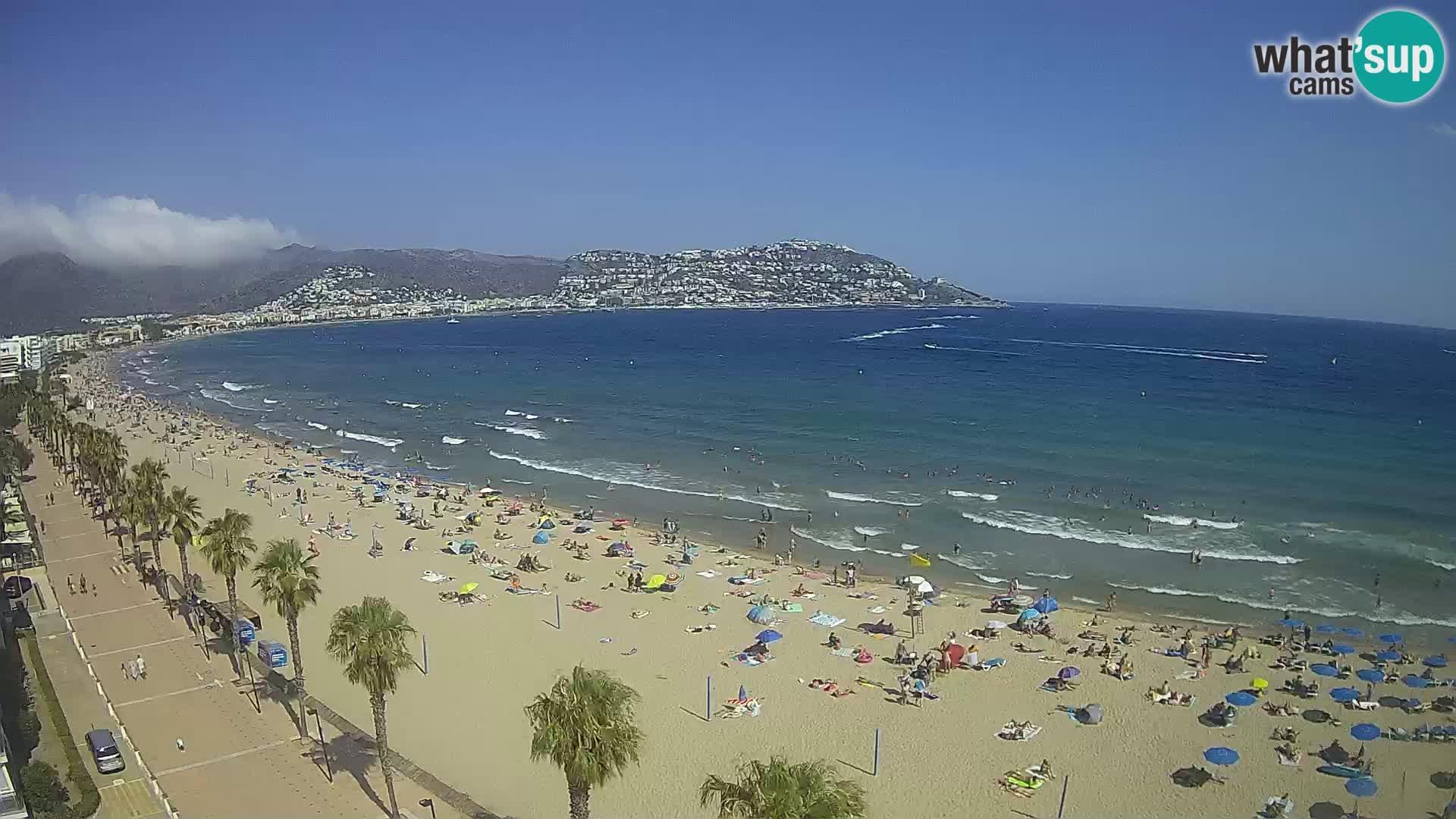 Webcam Costa Brava Roses Strand – Montecarlo Hotel livecam Spanien