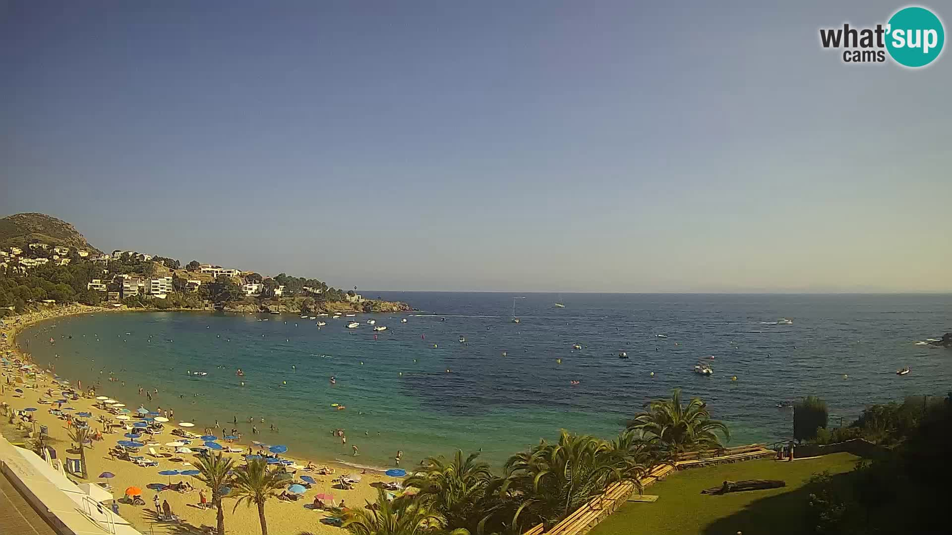 Plage de l'Almadrava Livecam Roses – Costa Brava – Espagne