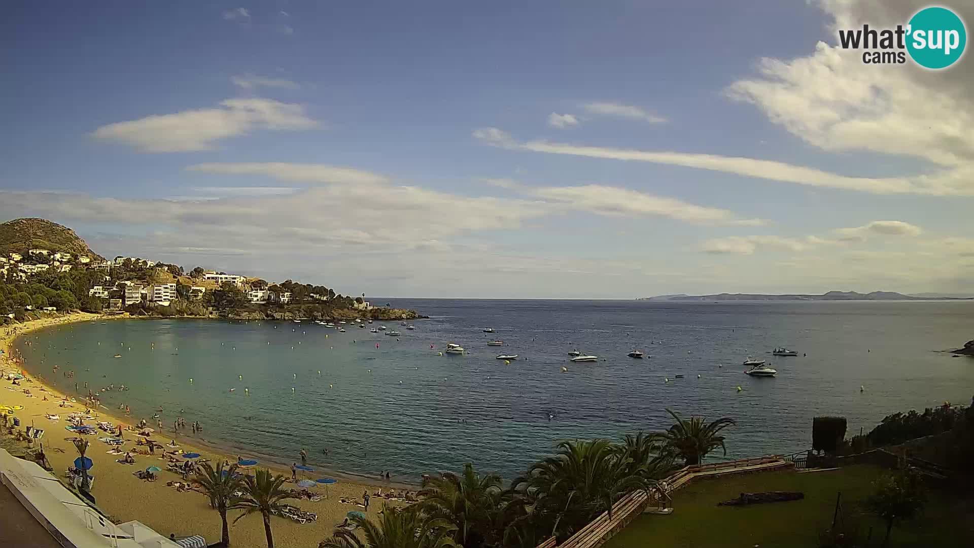 Platja de l'Almadrava beach Live Webcam Roses – Costa Brava – Spain