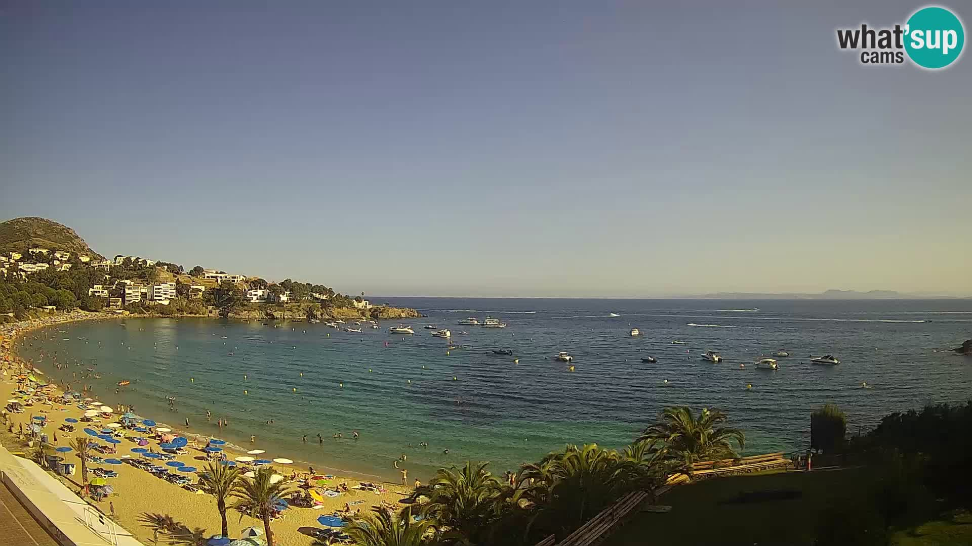 Plaža de l'Almadrava Spletna kamera Roses – Costa Brava – Španija