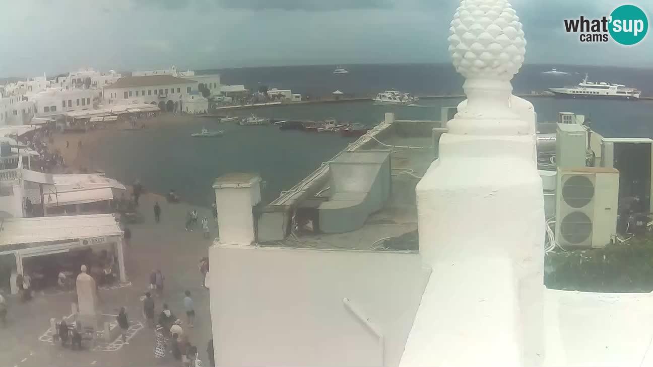 Mykonos – vista del puerto viejo