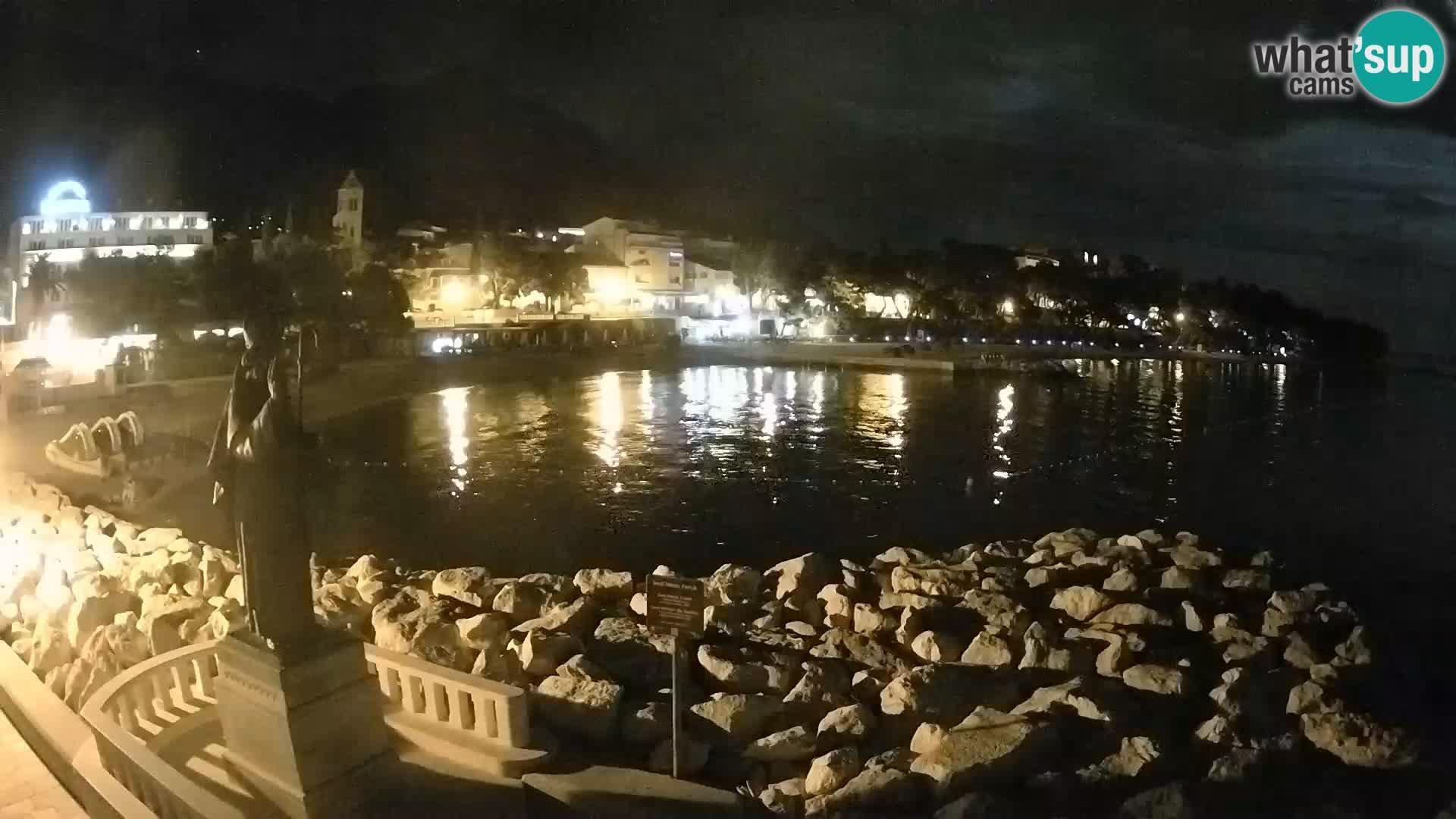 Spletna kamera Baška Voda – Sv. Nikola in plaža