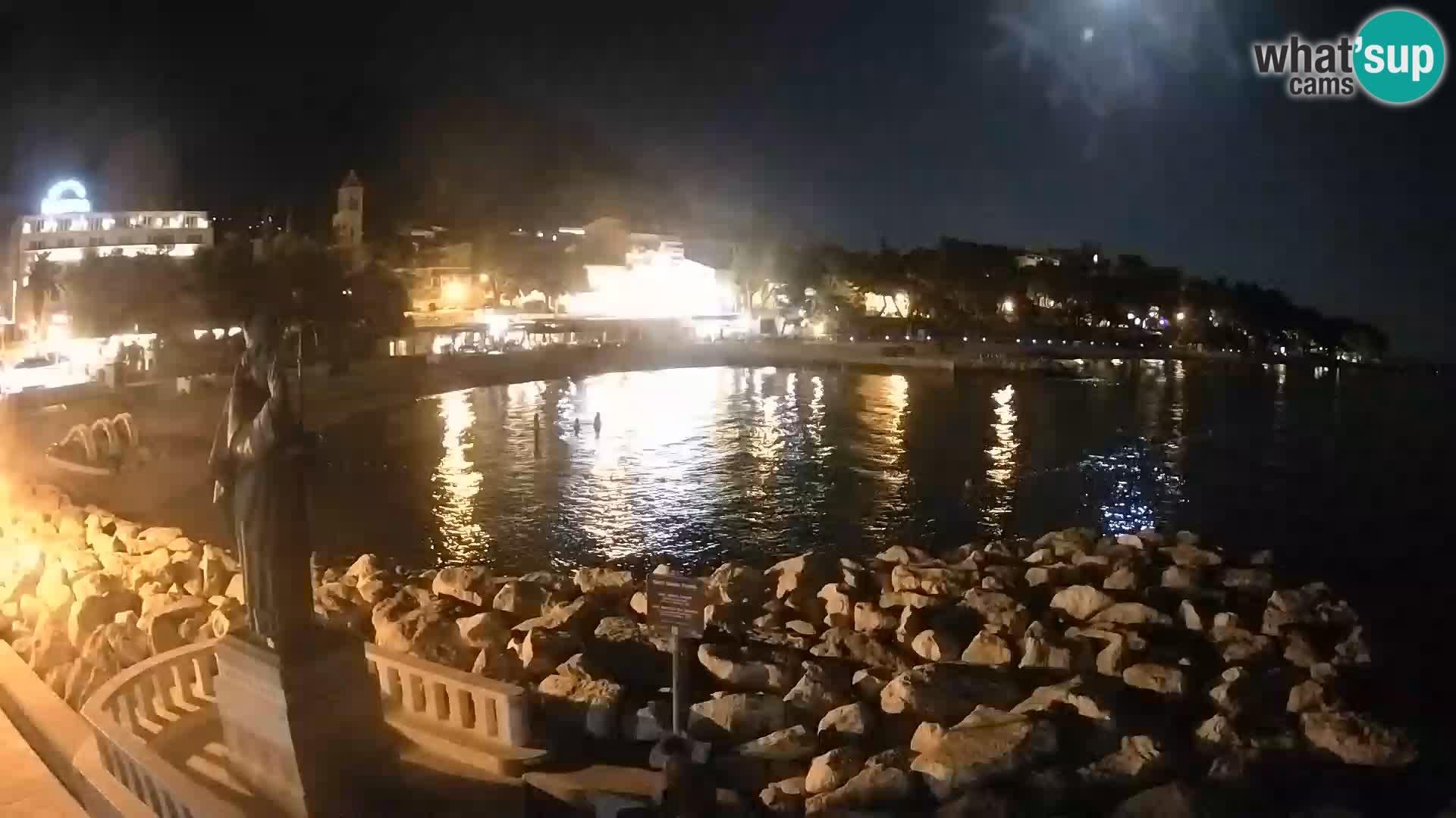 Webcam live Baška Voda – St. Nikola und Strand