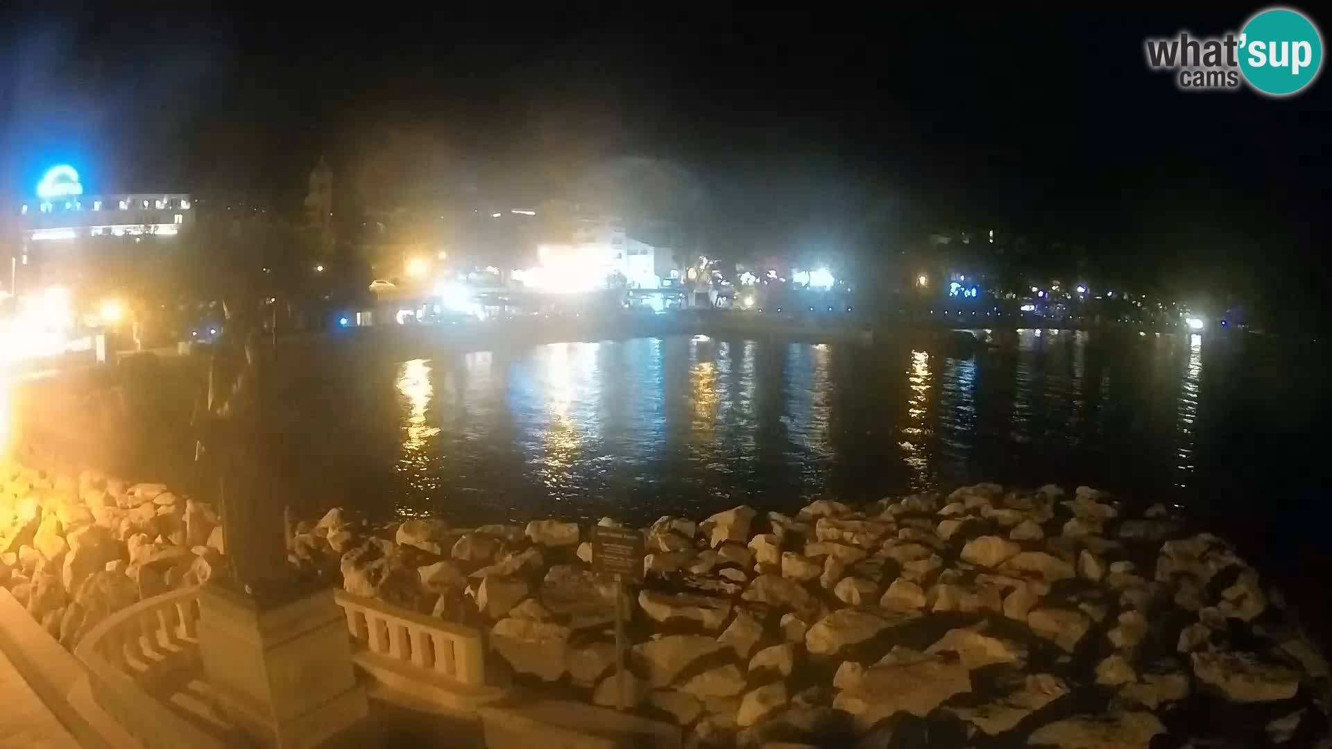 Web kamera Baška Voda – Sv. Nikola i plaža