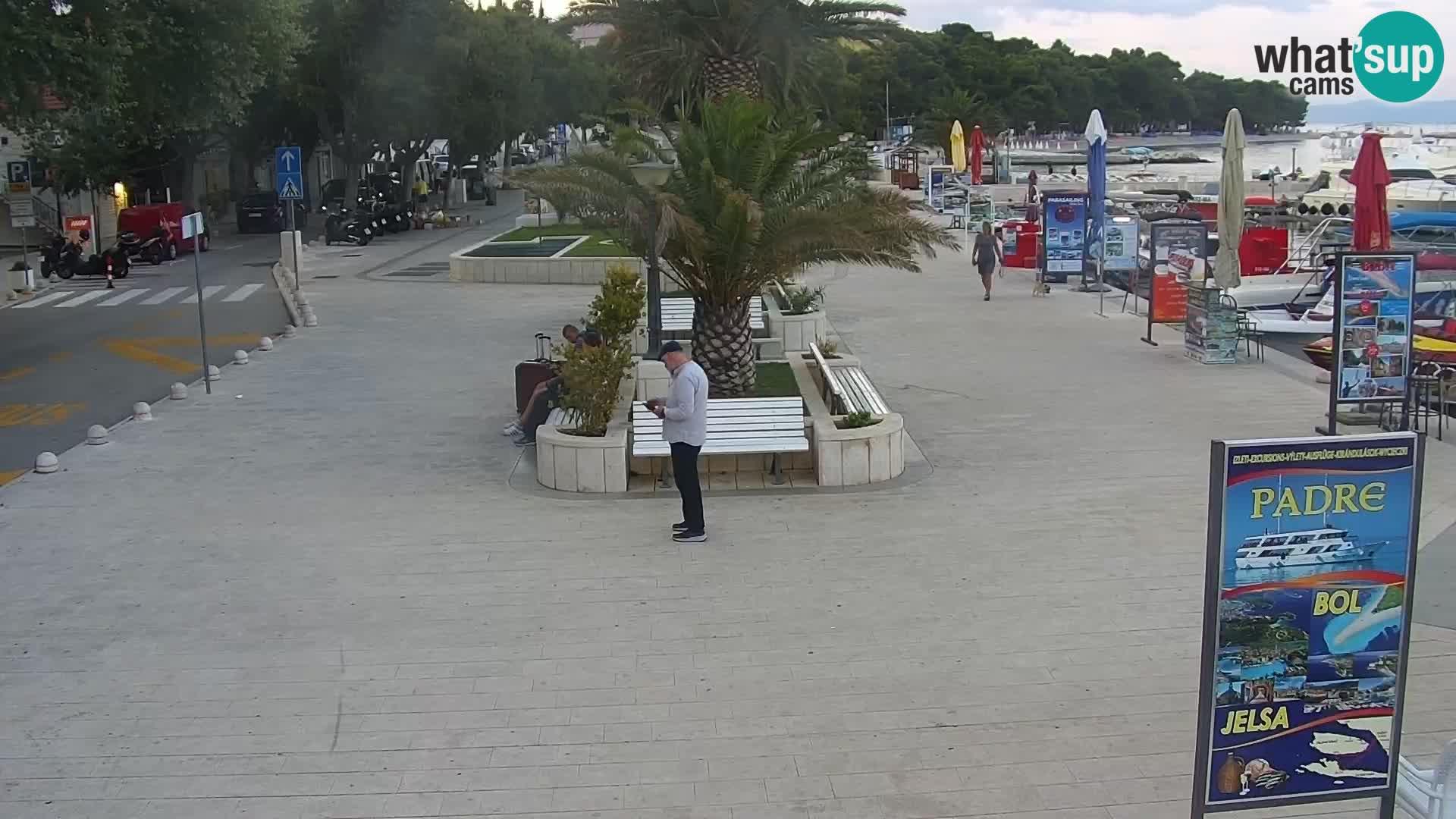 Seaside promenade in Baška Voda