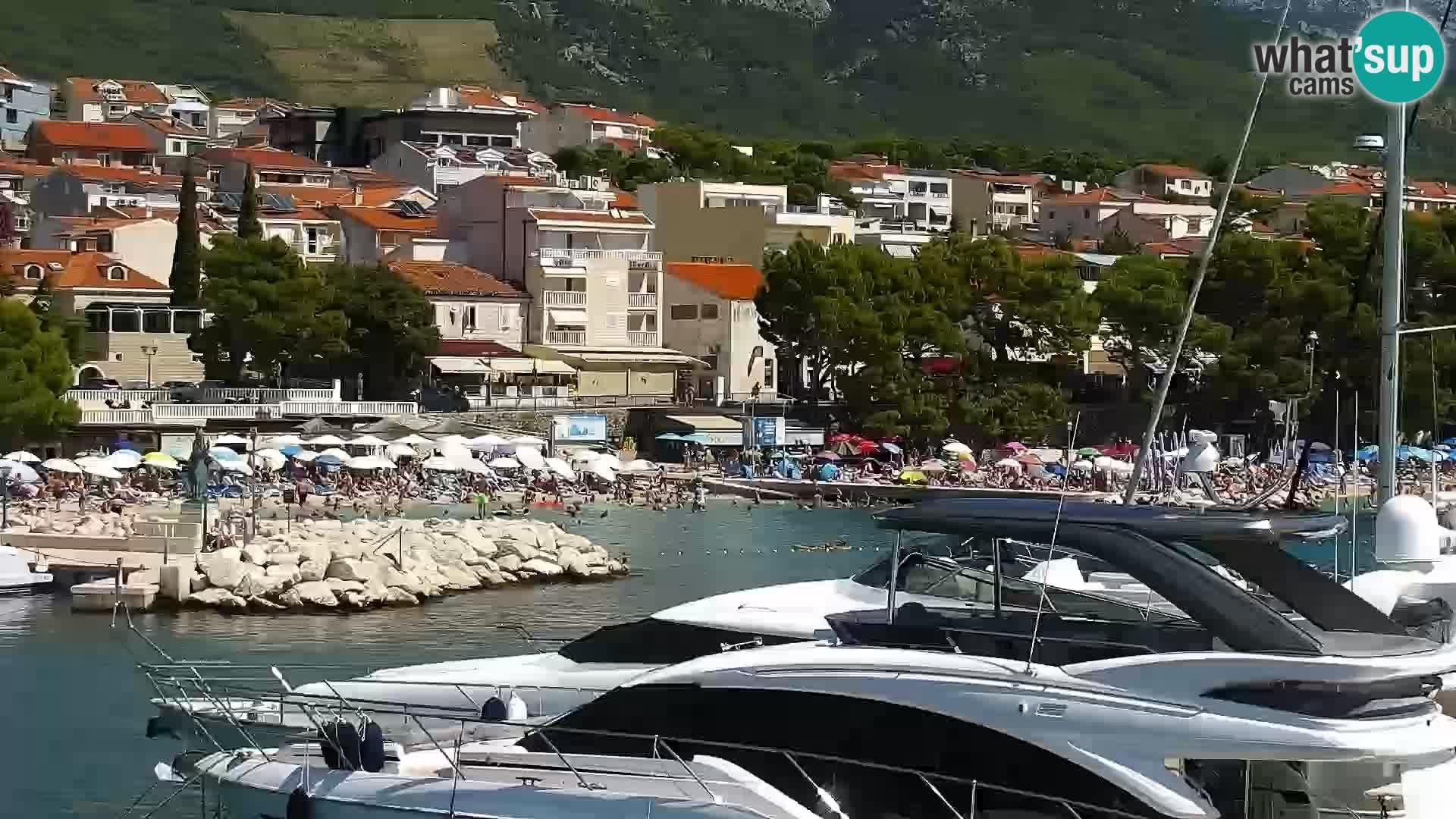 Web Kamera Baška Voda luka – Pogled na grad i masiv Biokovo