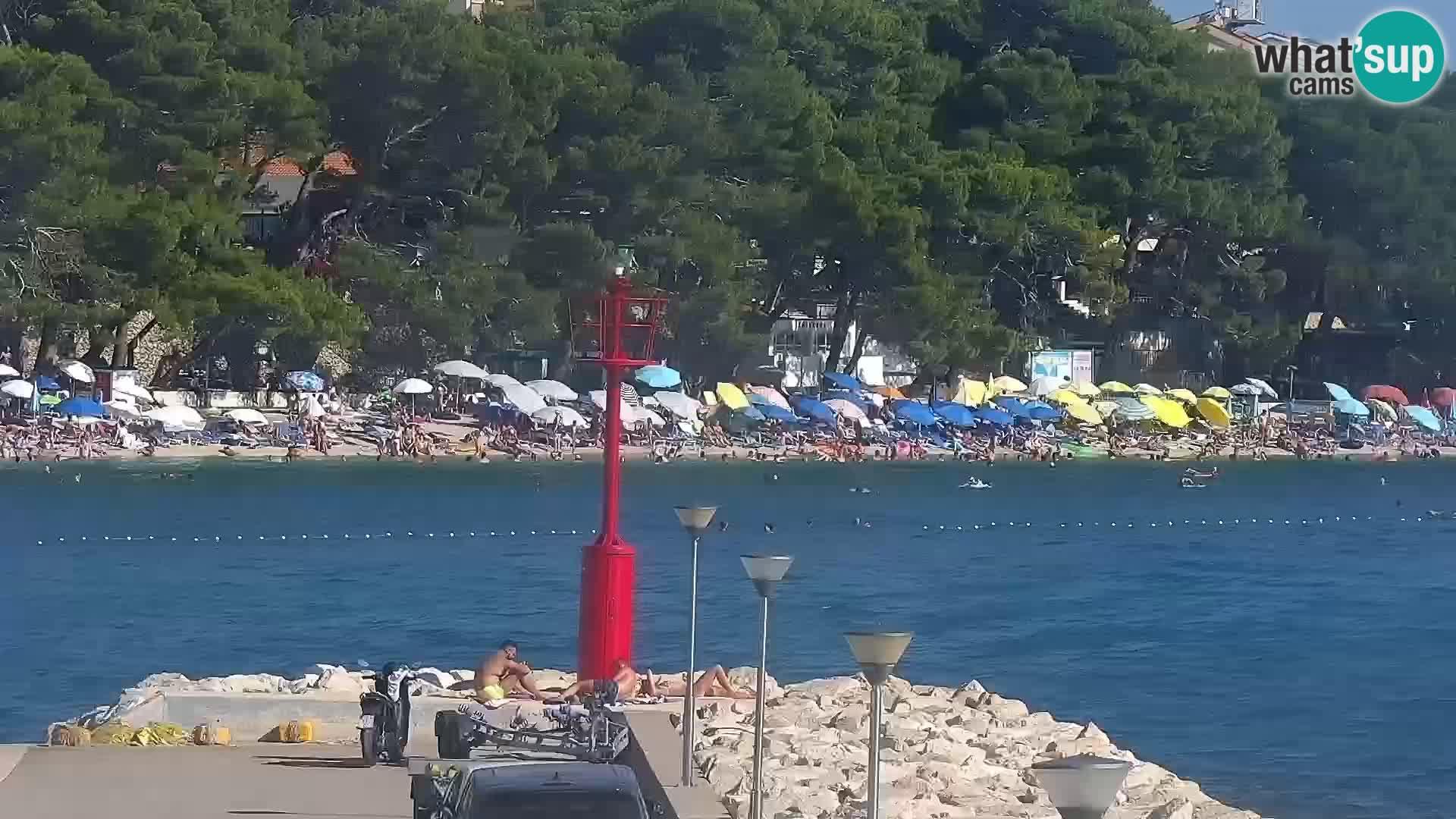 Webcam Baška Voda – Marina – Stadt und Gebirge Biokovo