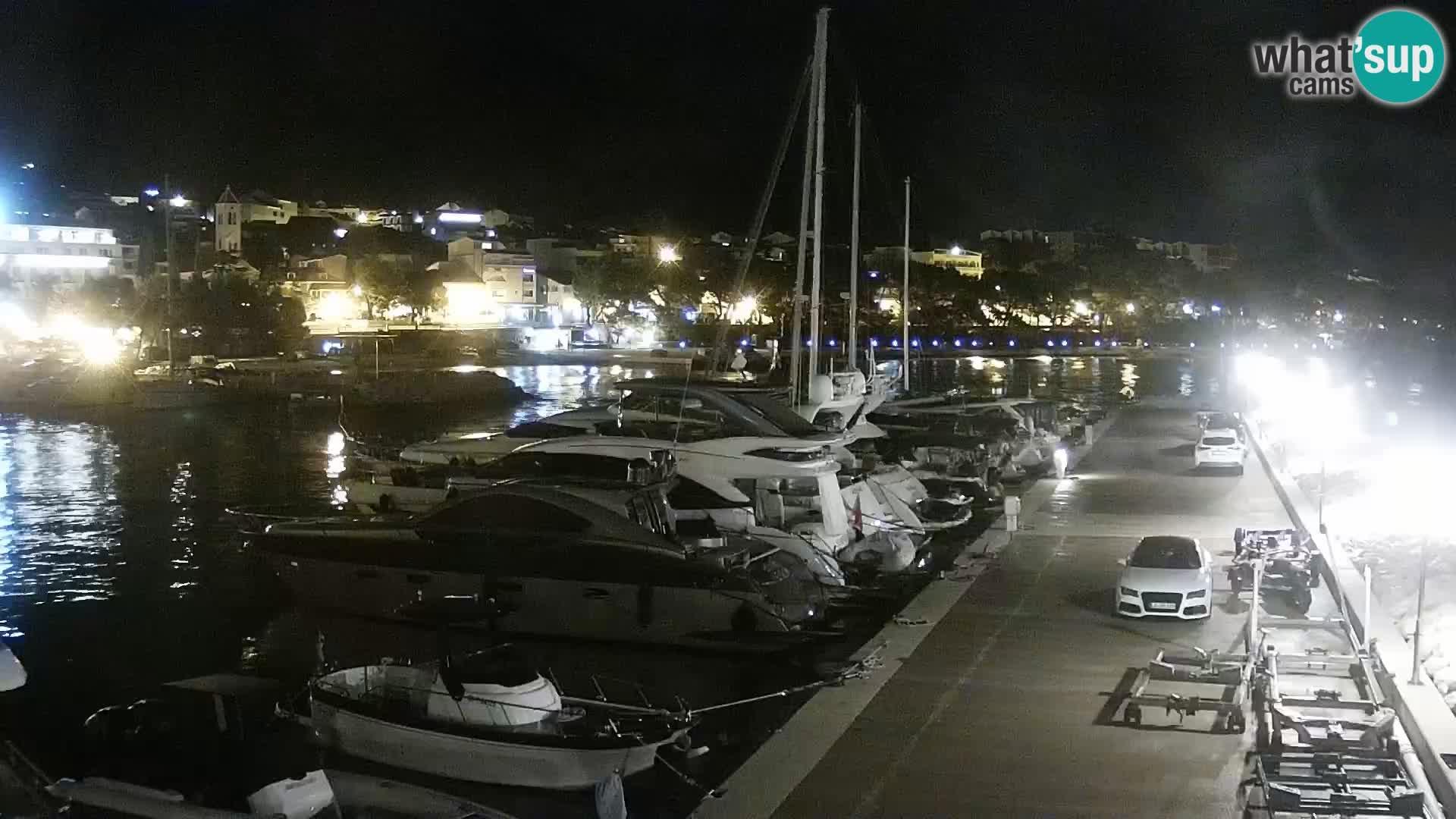Webcam Live – Panorama di Baška Voda e delle montagne Biokovo