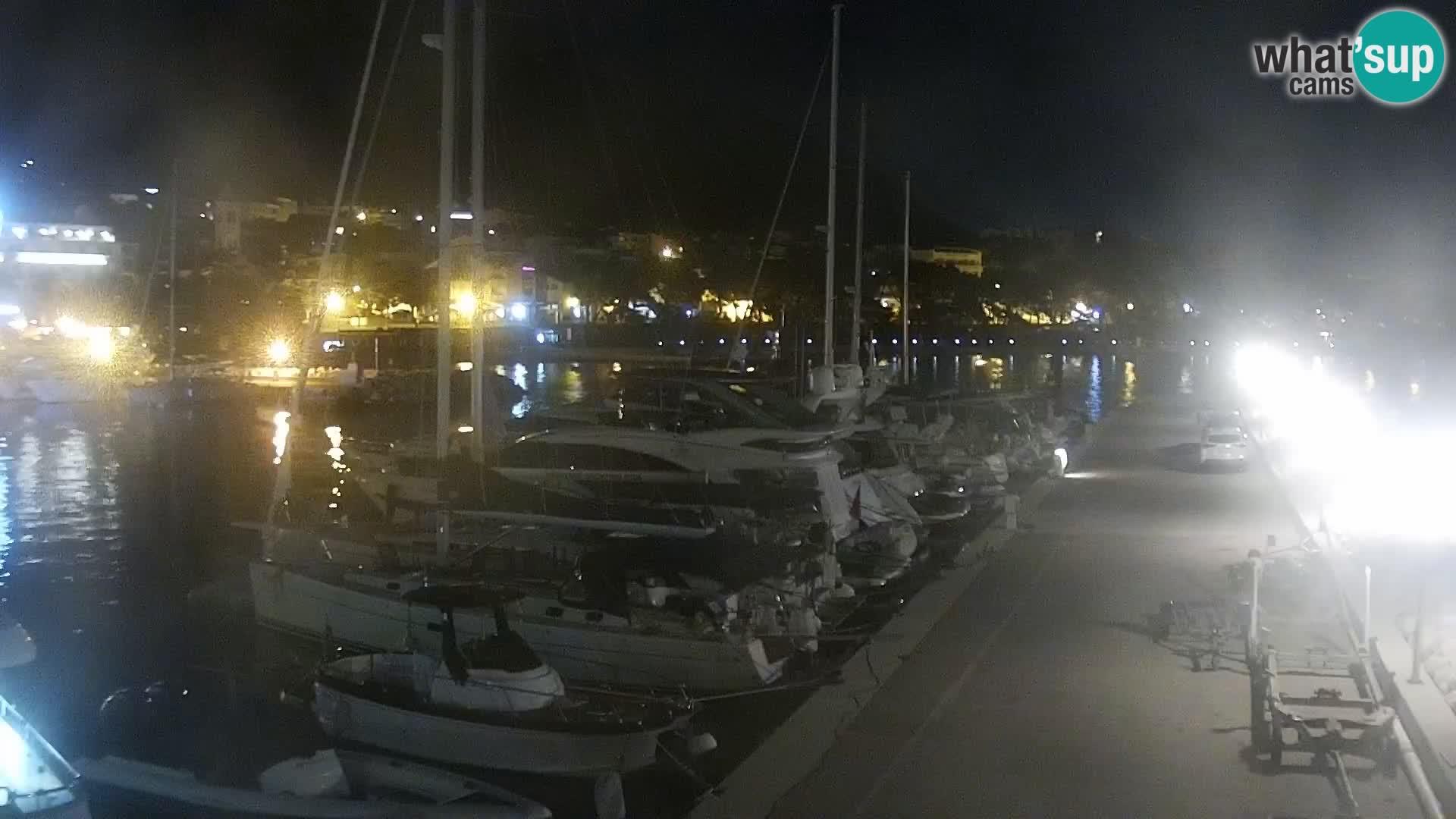 Webcam Live – View of Baška Voda and Biokovo mountain