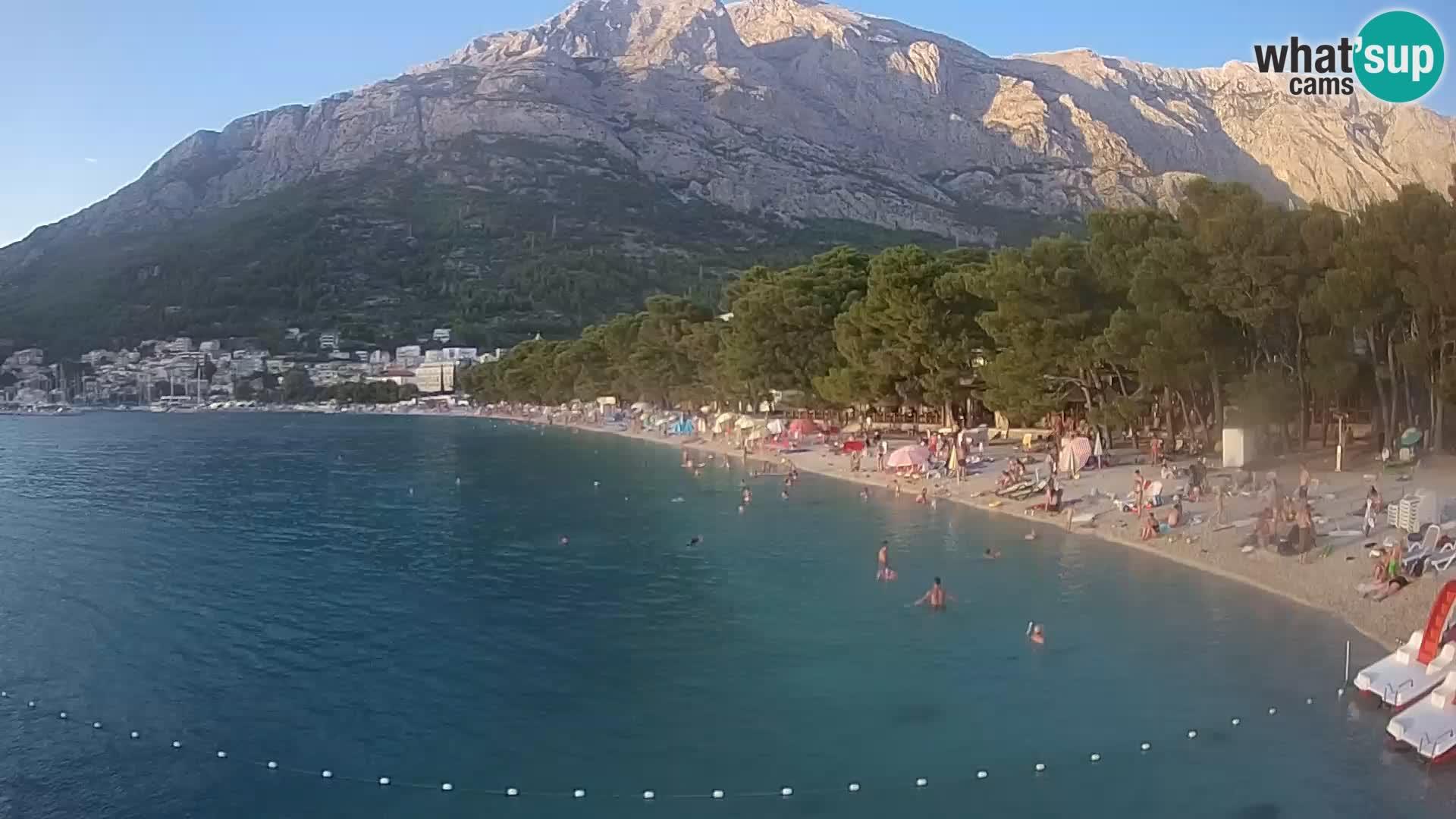Web kamera – Baška Voda – Borik, pogled na plažu Nikolina