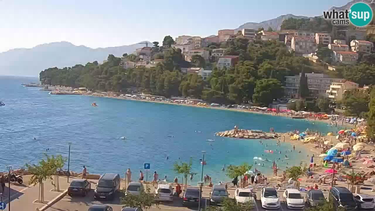 Baška Voda live webcam – spiaggia Podluka