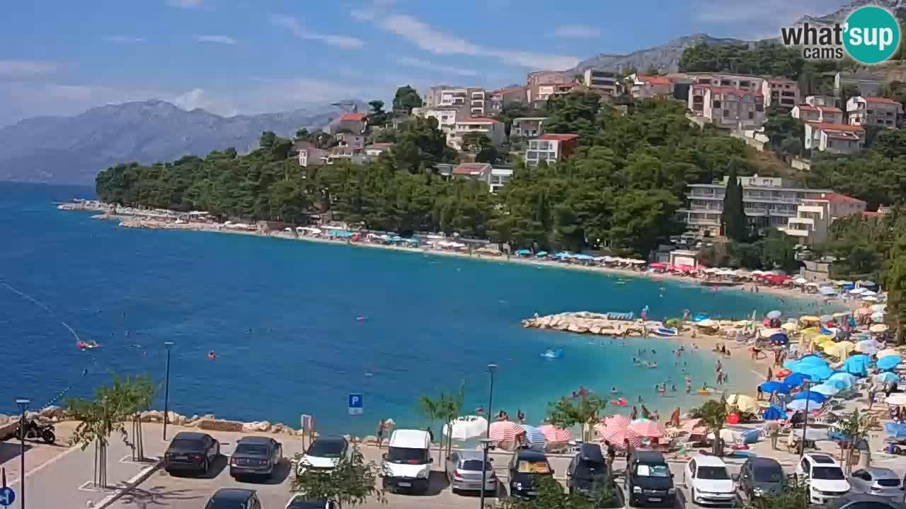 Baška Voda livecam – plage Podluka