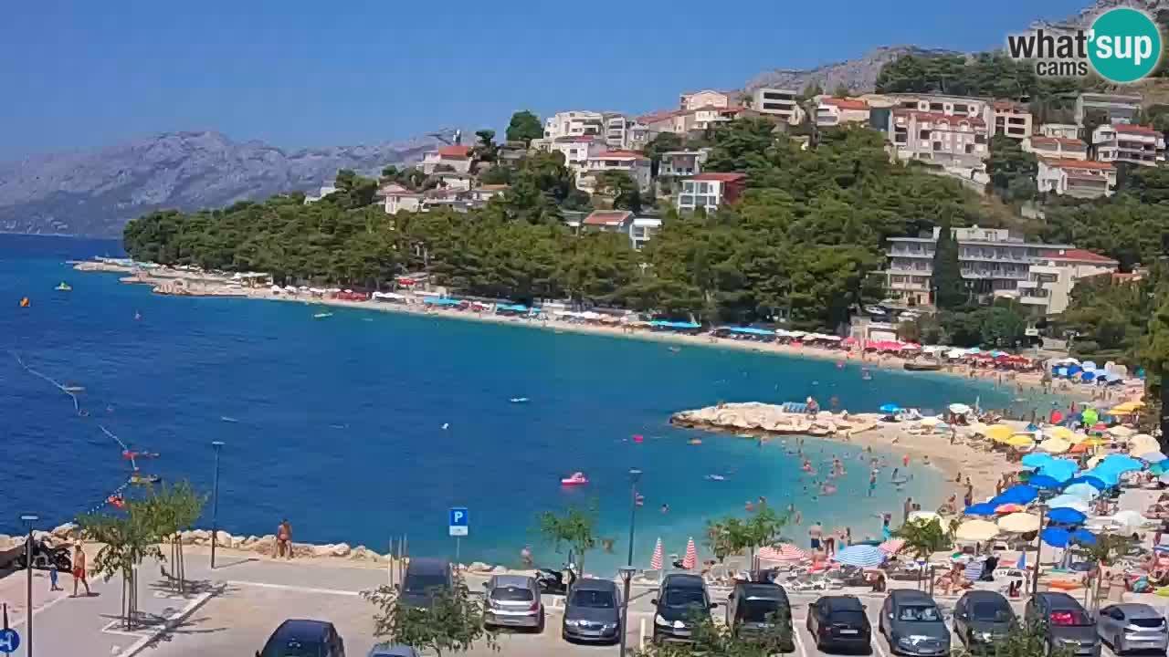 Baška Voda v živo – plaža Podluka