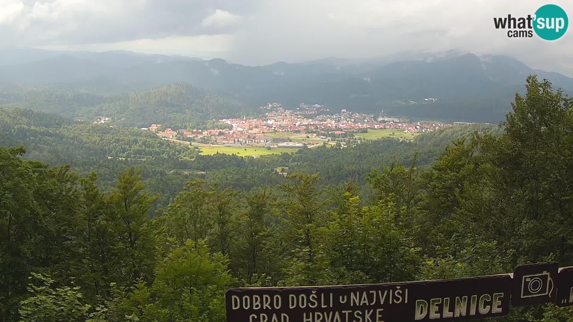 Panorama Delnice – vom Skigebiet Petehovac