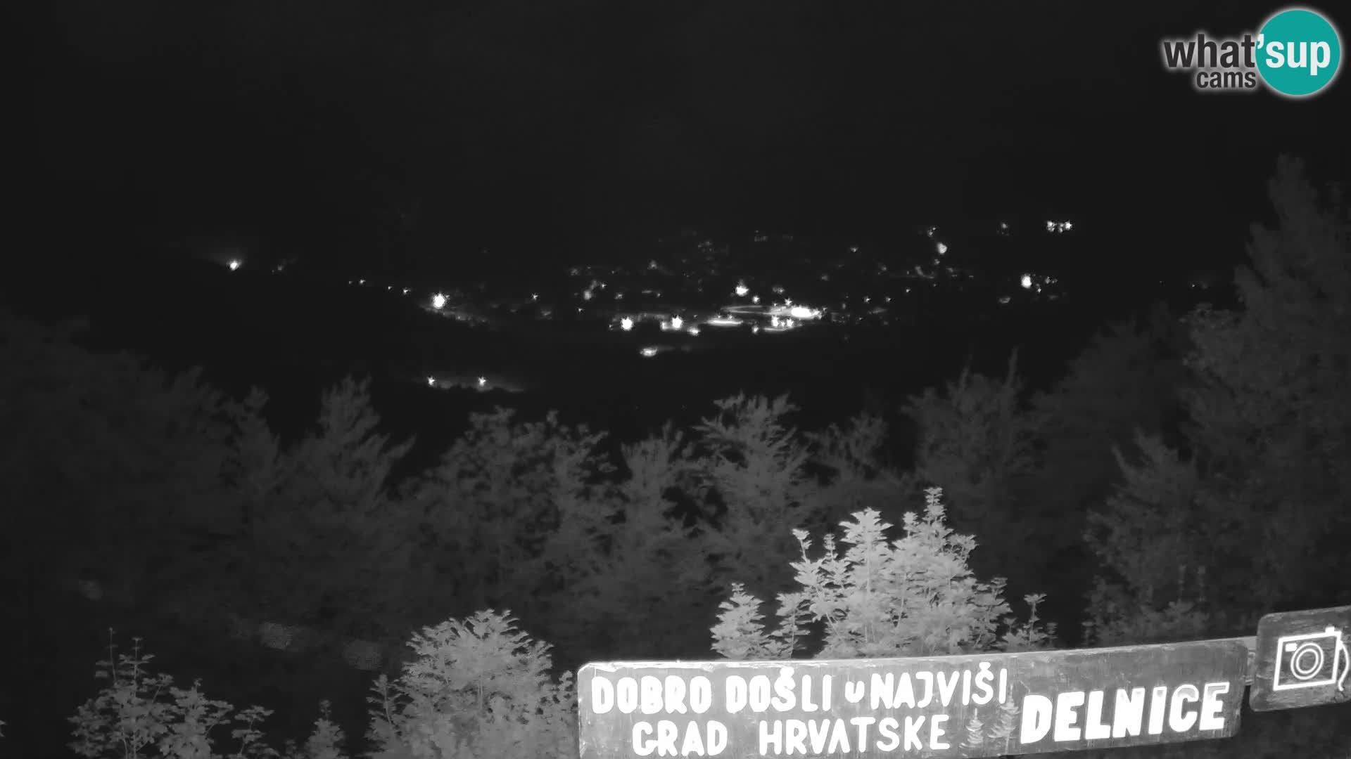Panorama na Delnice – sa skijališta Petehovac