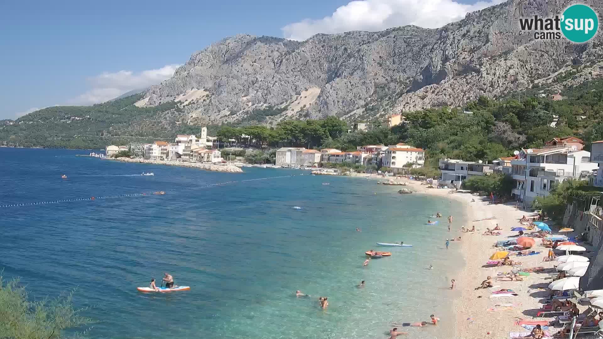 Webcam Drašnice (Podgora)  – Plage