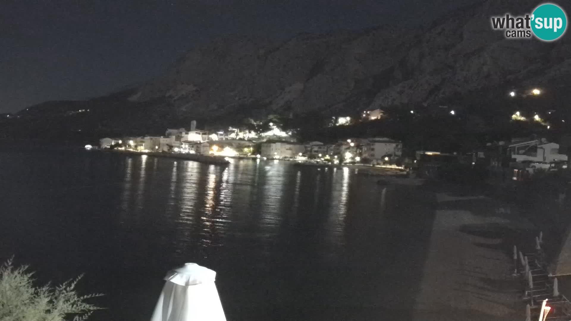 Webcam Drašnice (Podgora)  – Spiaggia