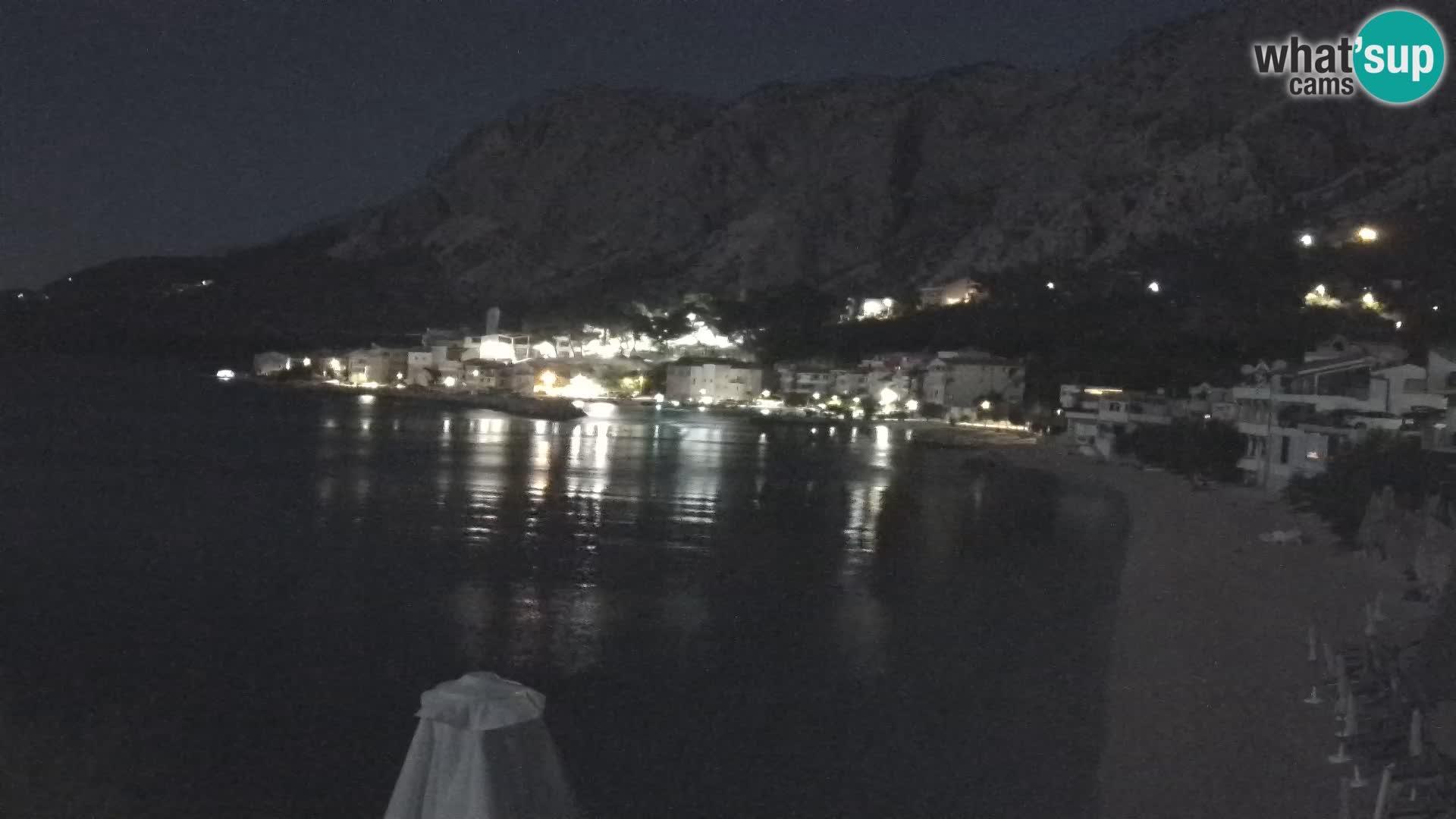 Web Kamera Drašnice (Podgora) – Plaža sa Apartmana Ober