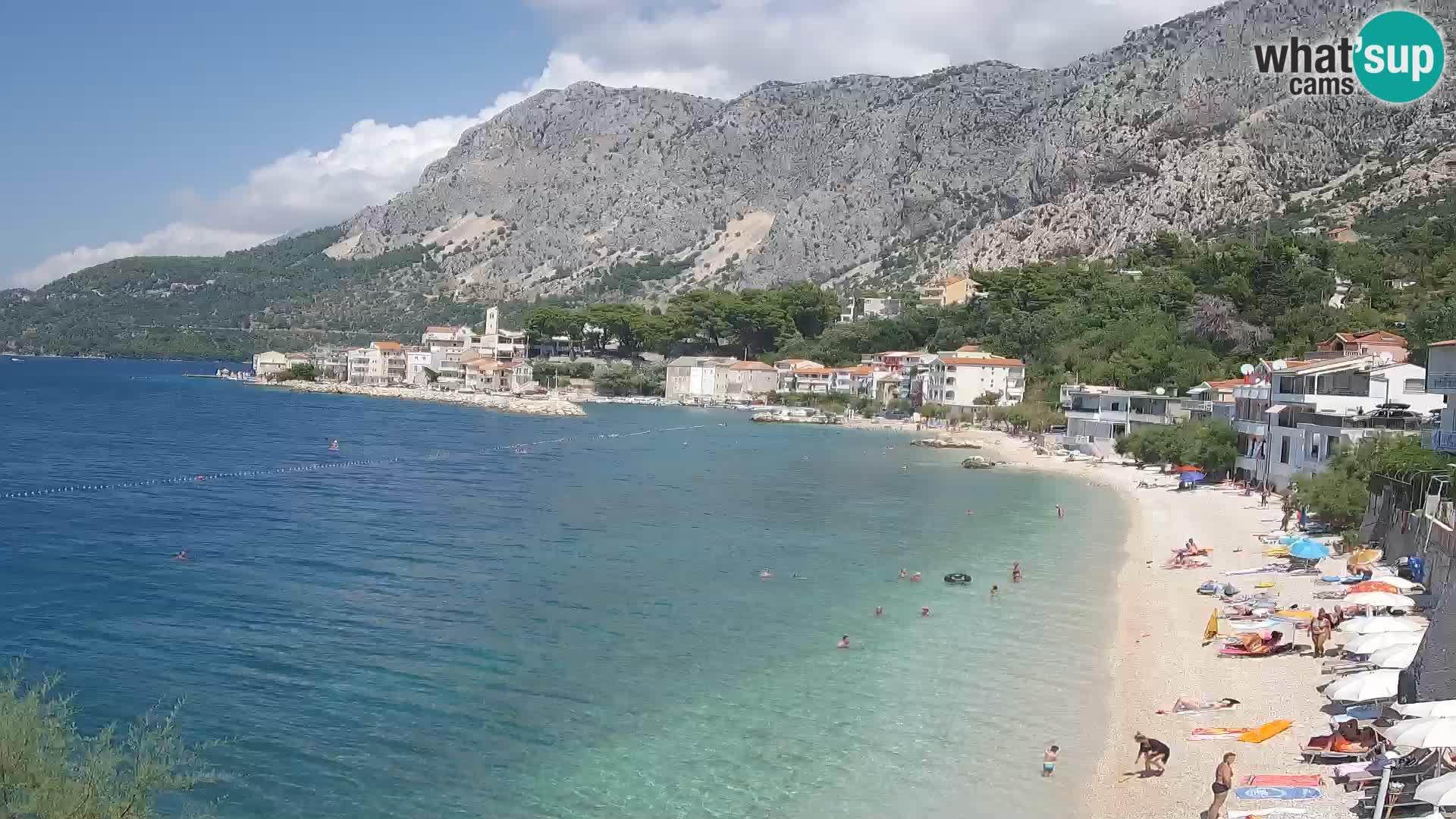 Webcam Drašnice (Podgora)  – Beach – Ober apartments