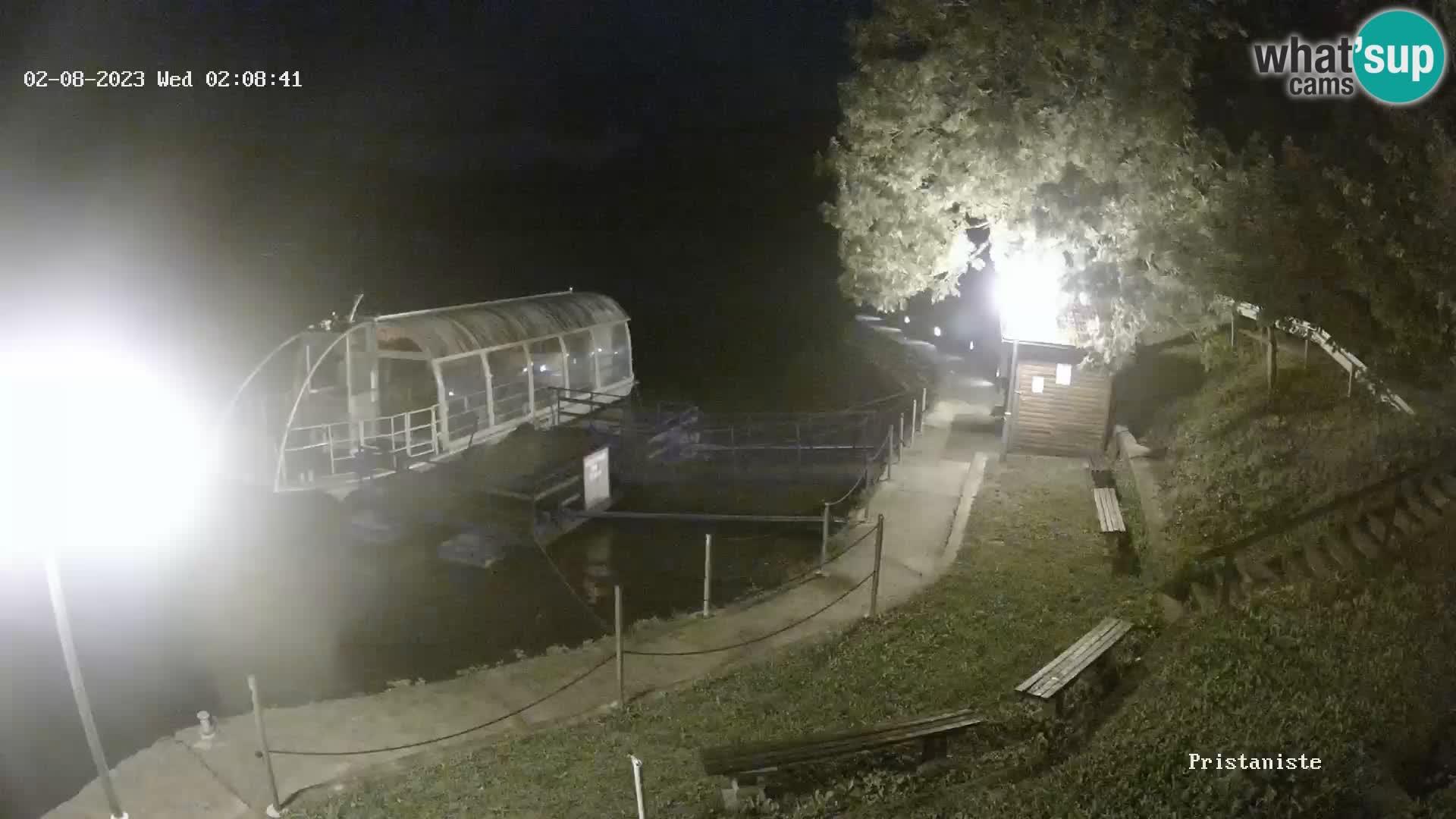 Lago Bajer camera en vivo Bajersko Jezero Fužine barco turístico