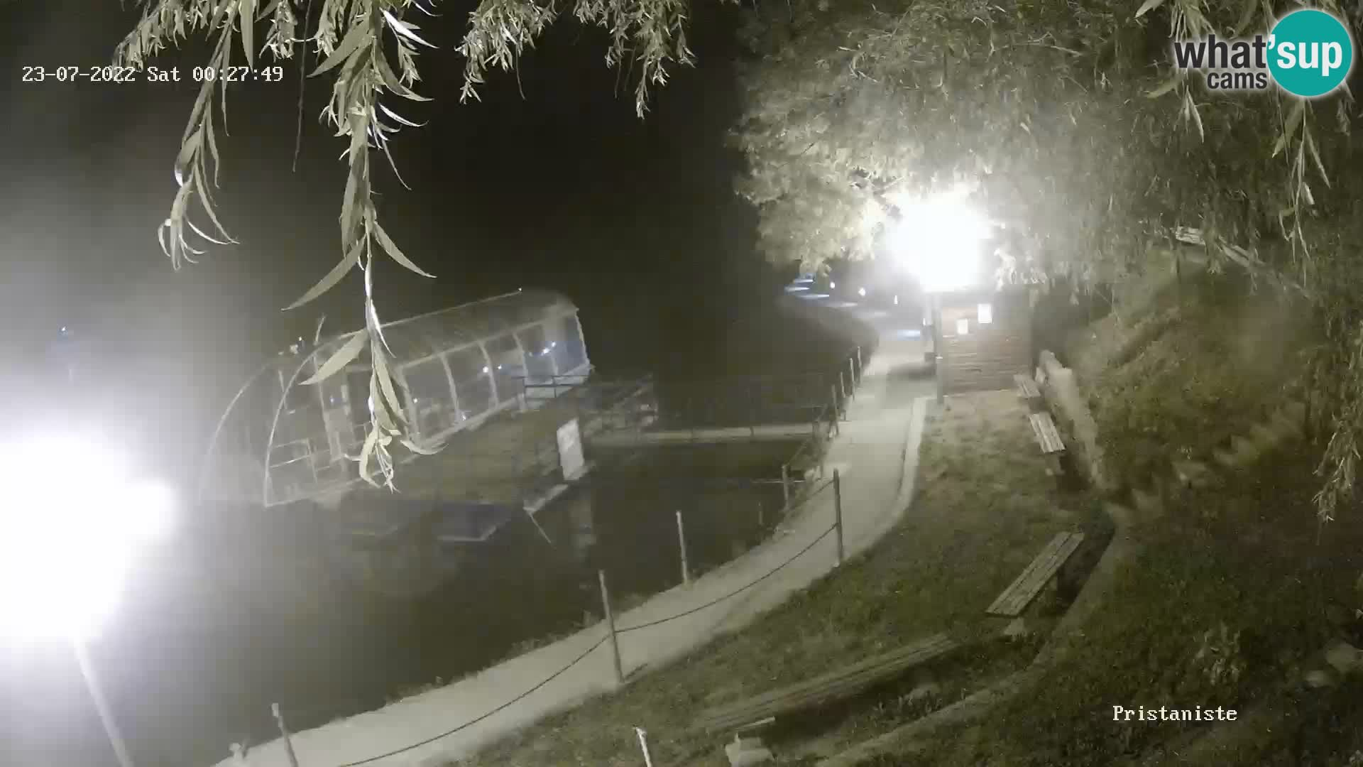 Web kamera Bajersko Jezero Fužine – turistički brodić
