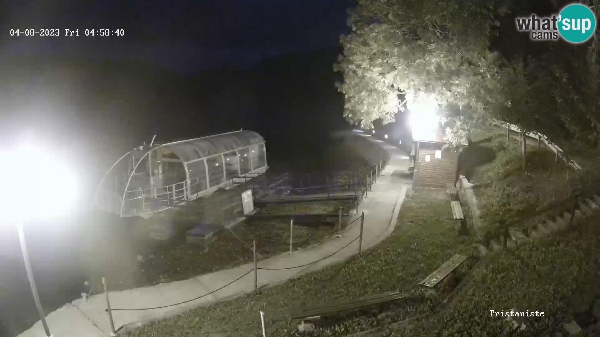 Lake Bajer webcam Bajersko Jezero Fužine tourist boat