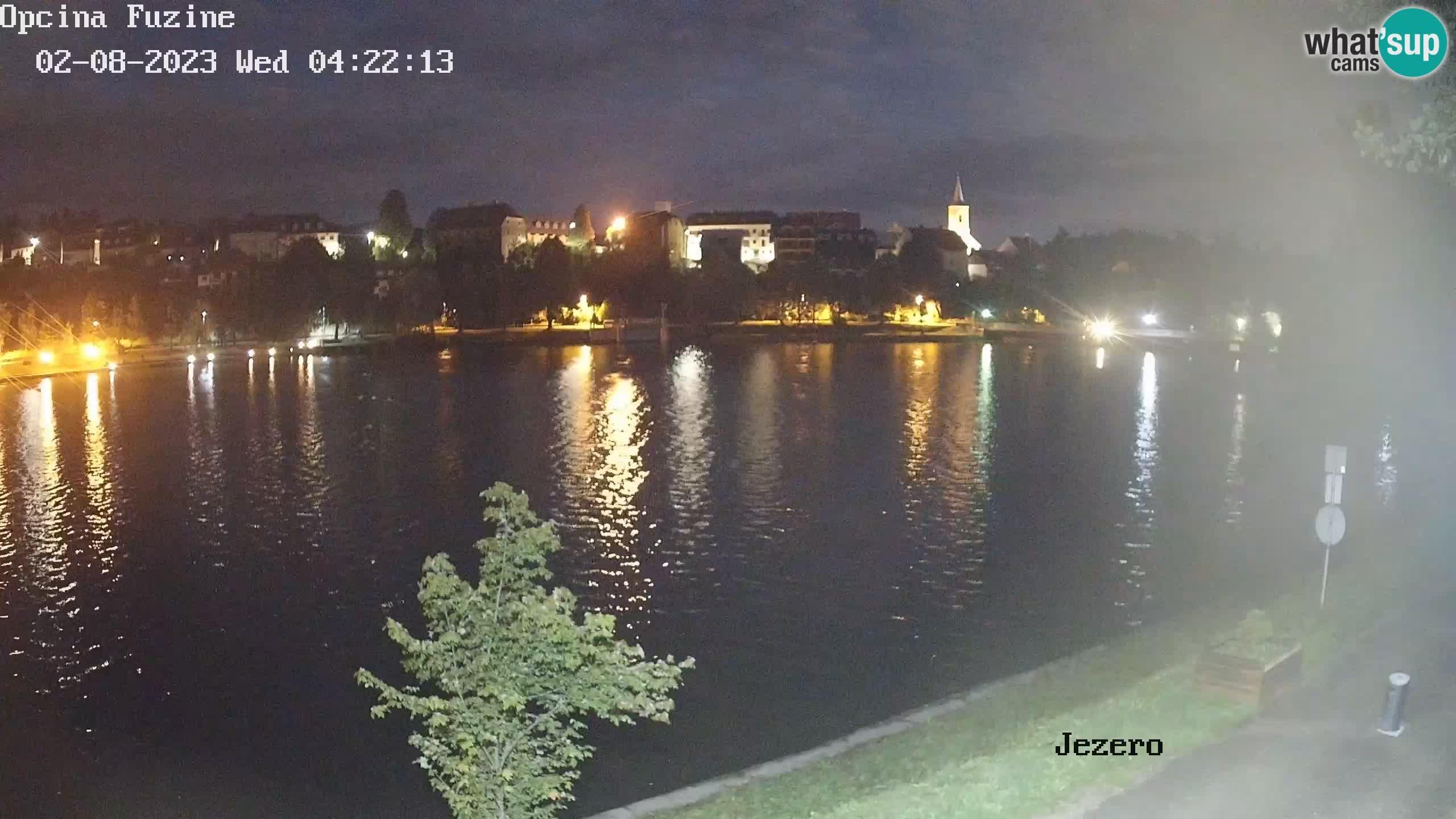 LIVE lago Bajer webcam Bajersko Jezero Fužine