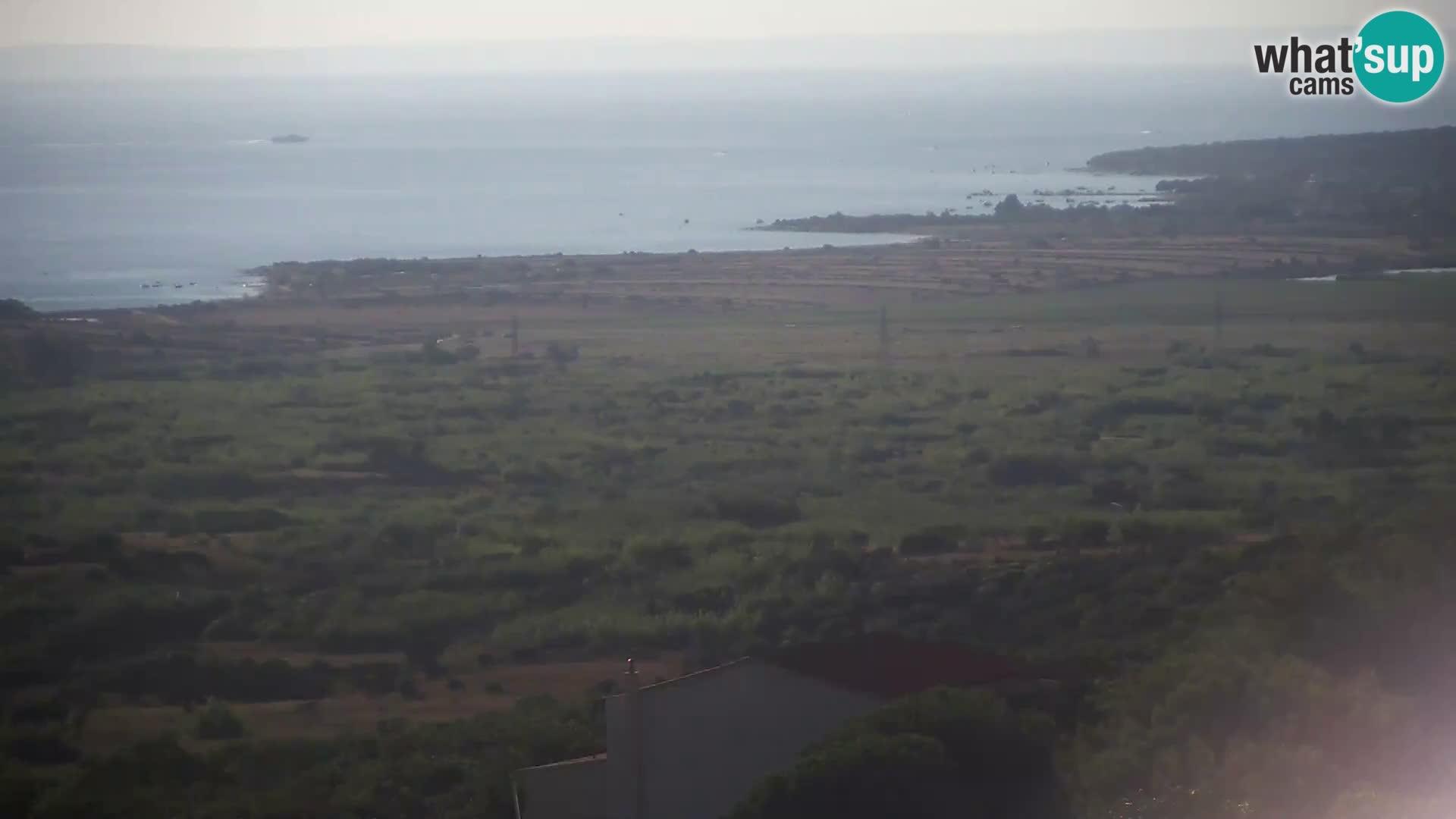 Pogled s Sirarne Gligora na Kolansko polje, blato in ornitološki rezervat