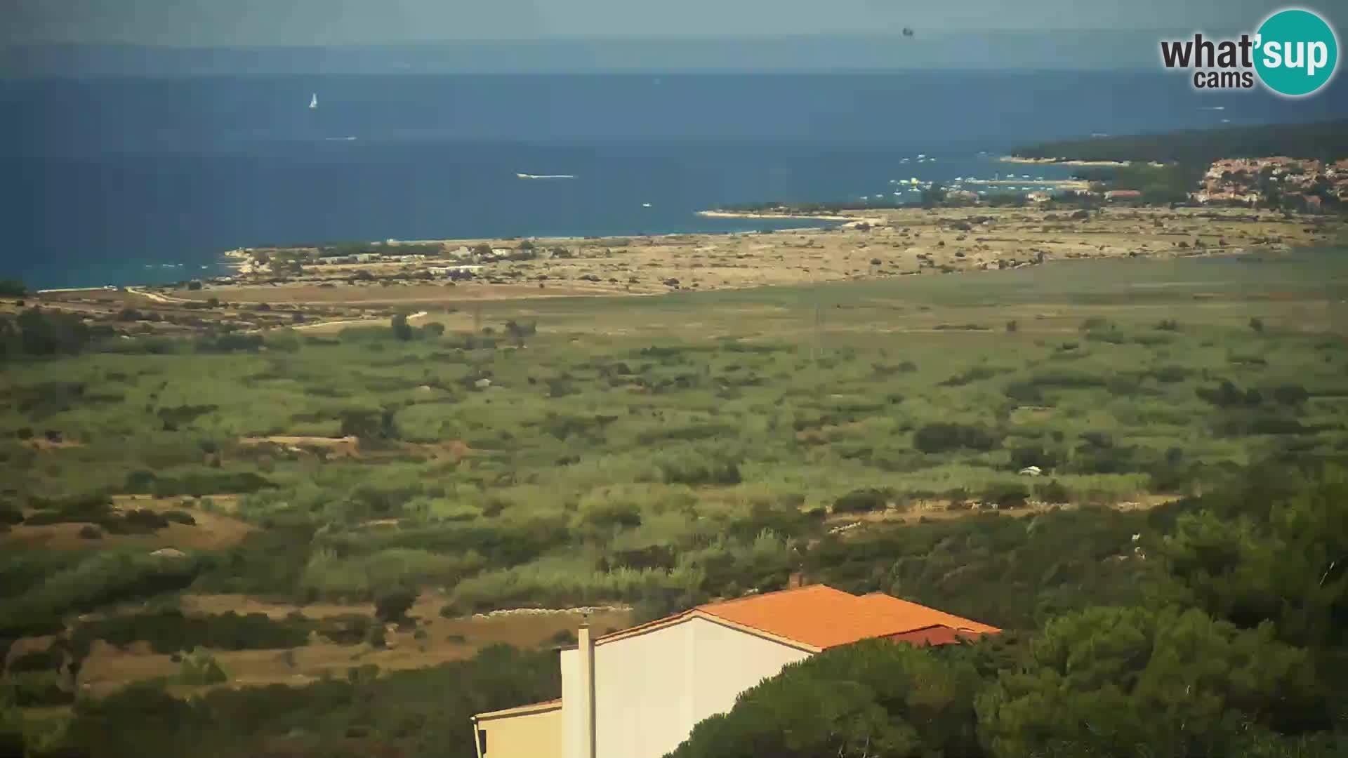 Vista dalla fabbrica di formaggio Gligora Kolan – isola di Pag