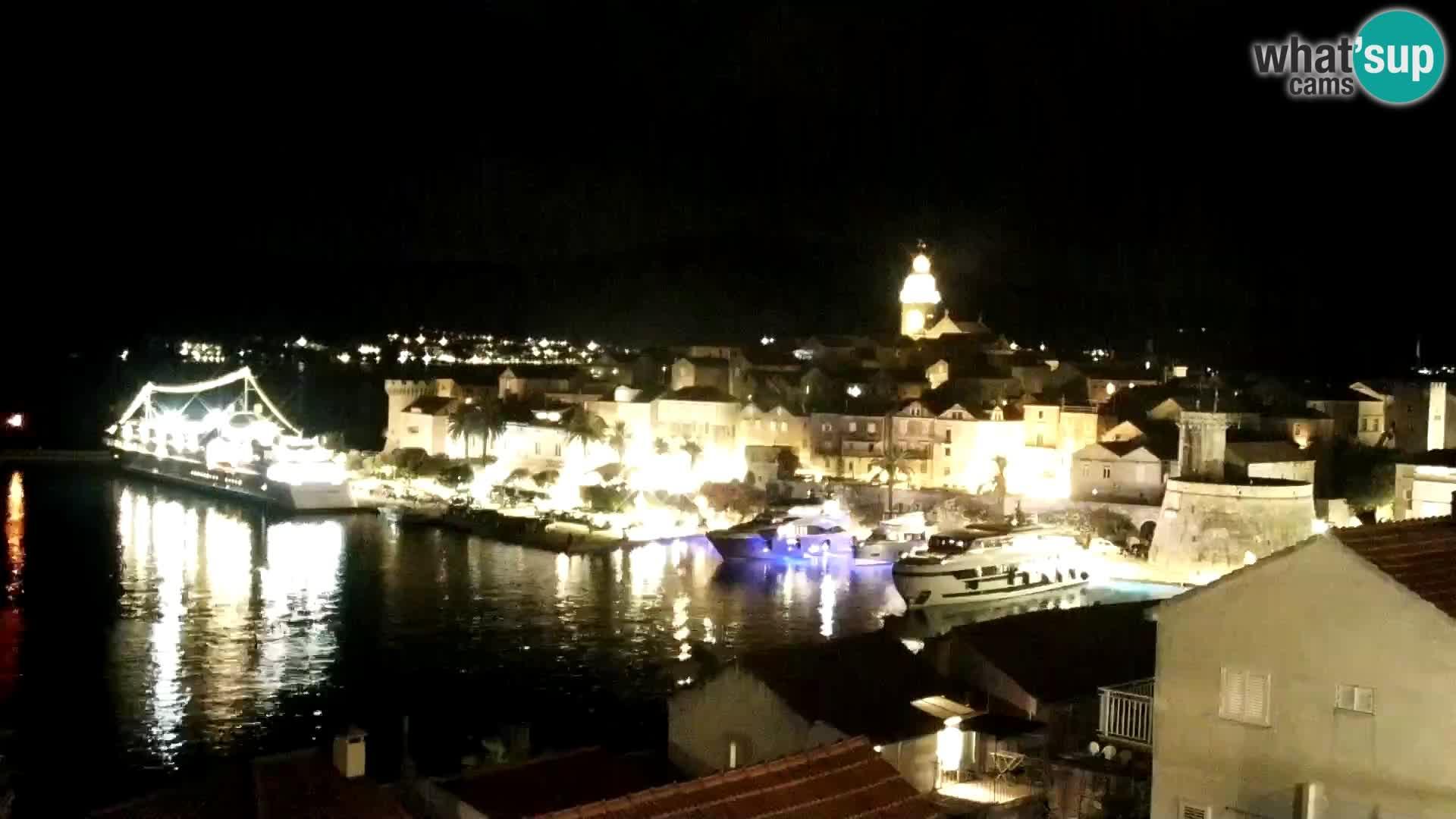 Panorama city Korčula webcam live