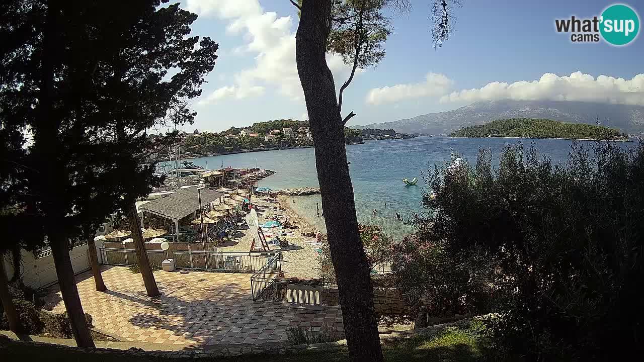 Webcam Lumbarda – Prvi Žal beach – Korčula