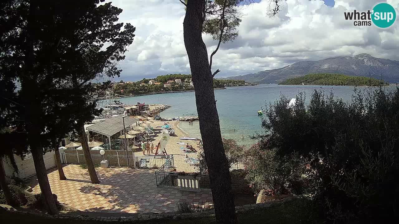 Spletna kamera Lumbarda – Plaža Prvi Žal – Korčula