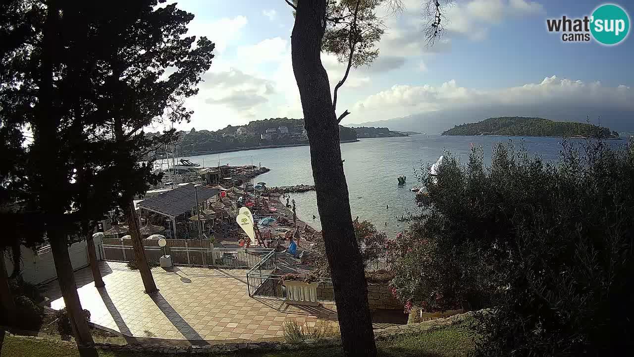 Webcam live Lumbarda – Plage Prvi Žal – Korčula