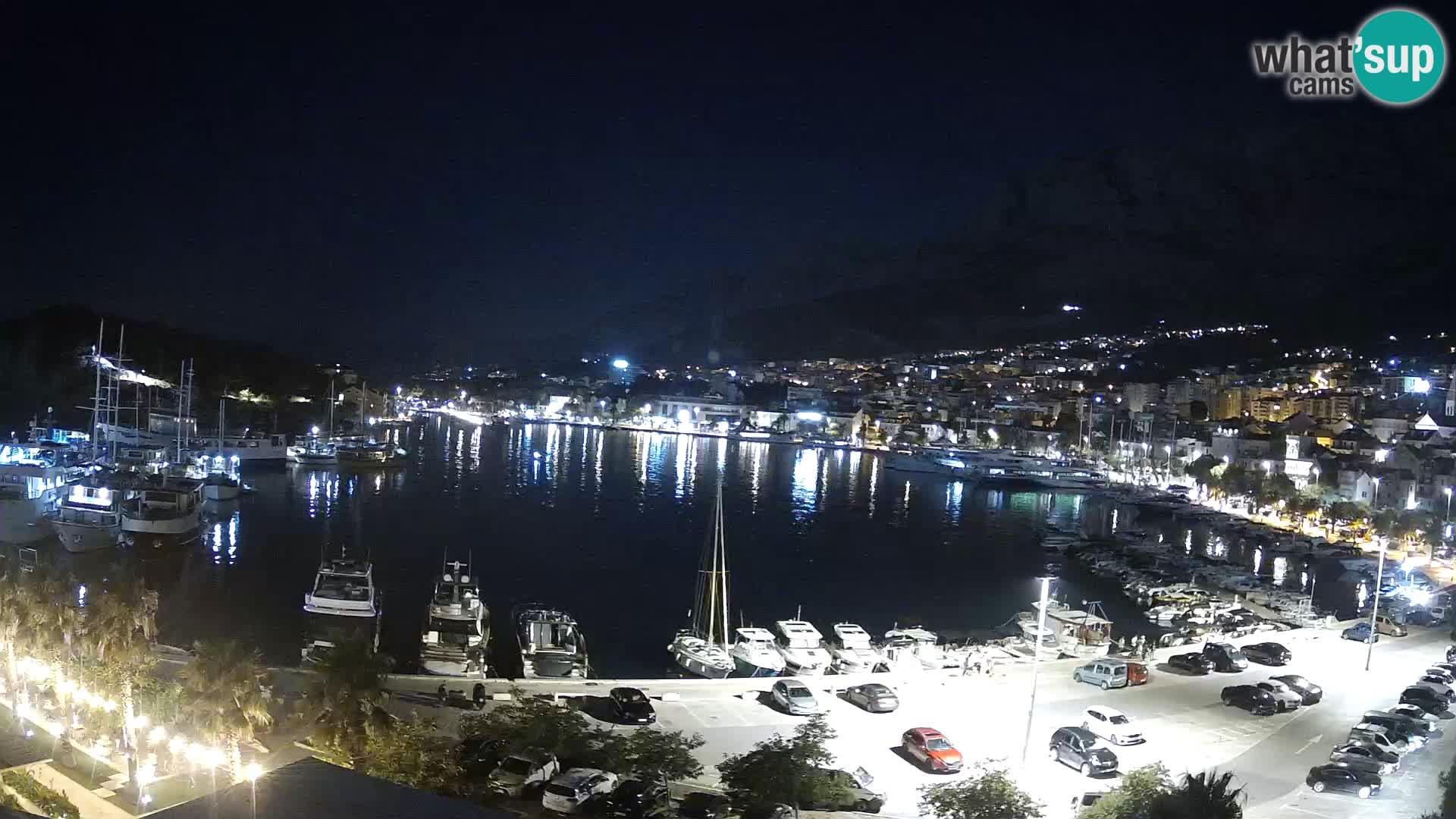 Webcam Makarska 's seaside promenade