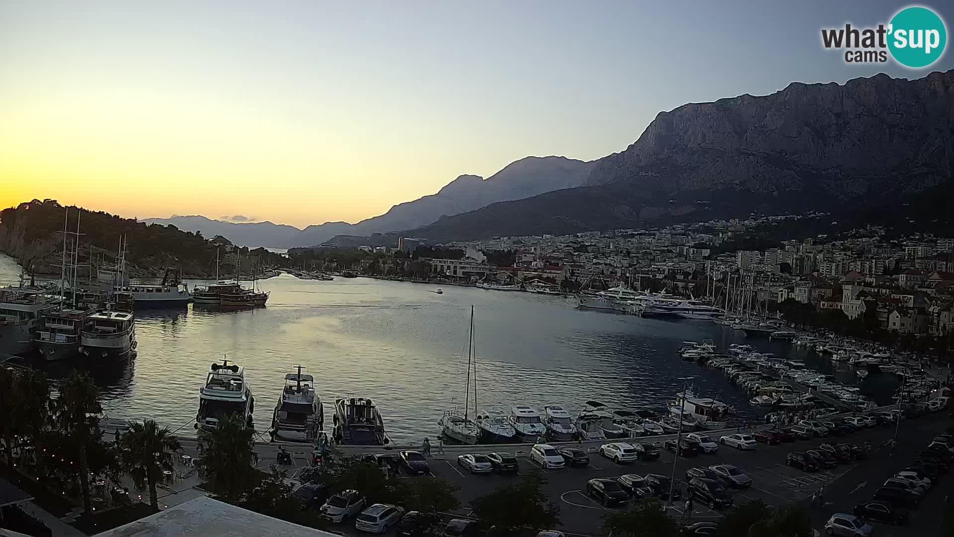 Webcam Makarska promenade de bord de mer