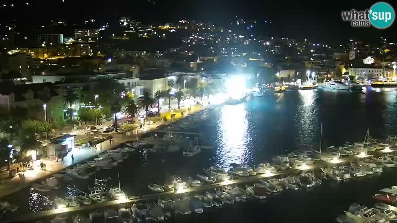 Stupendo panorama di Makarska livecam