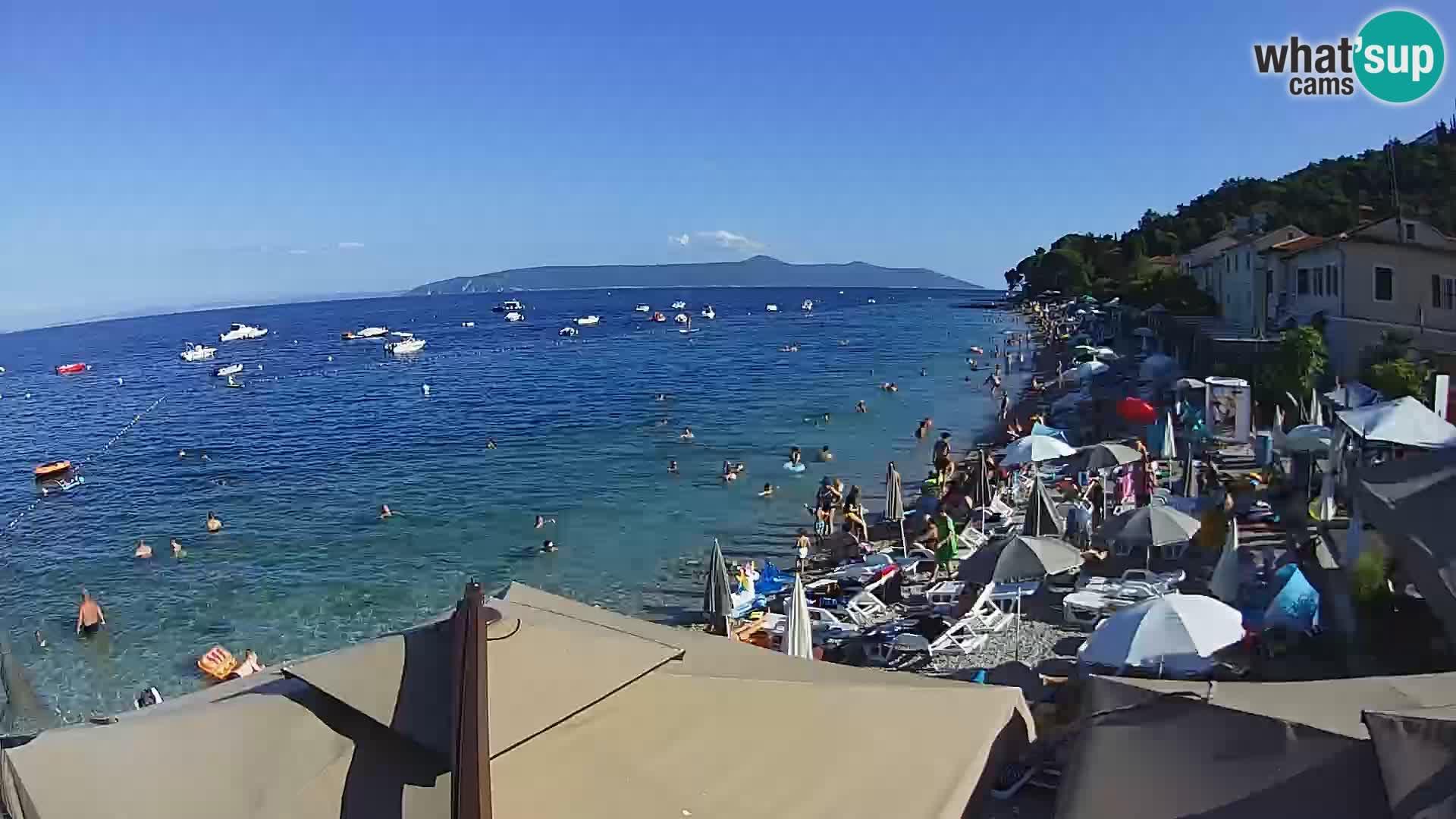 Web kamera Mošćenička Draga – plaža