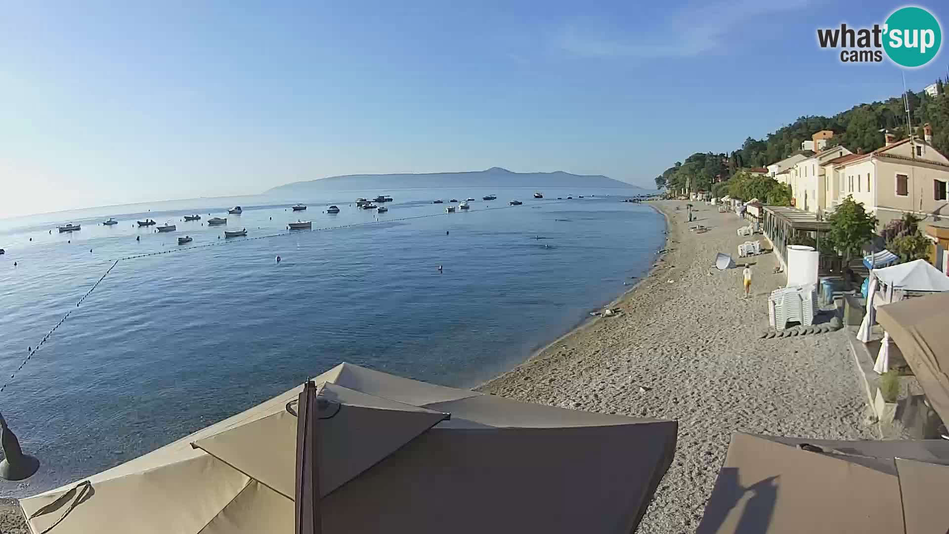 Livecam Draga di Moschiena – spiaggia
