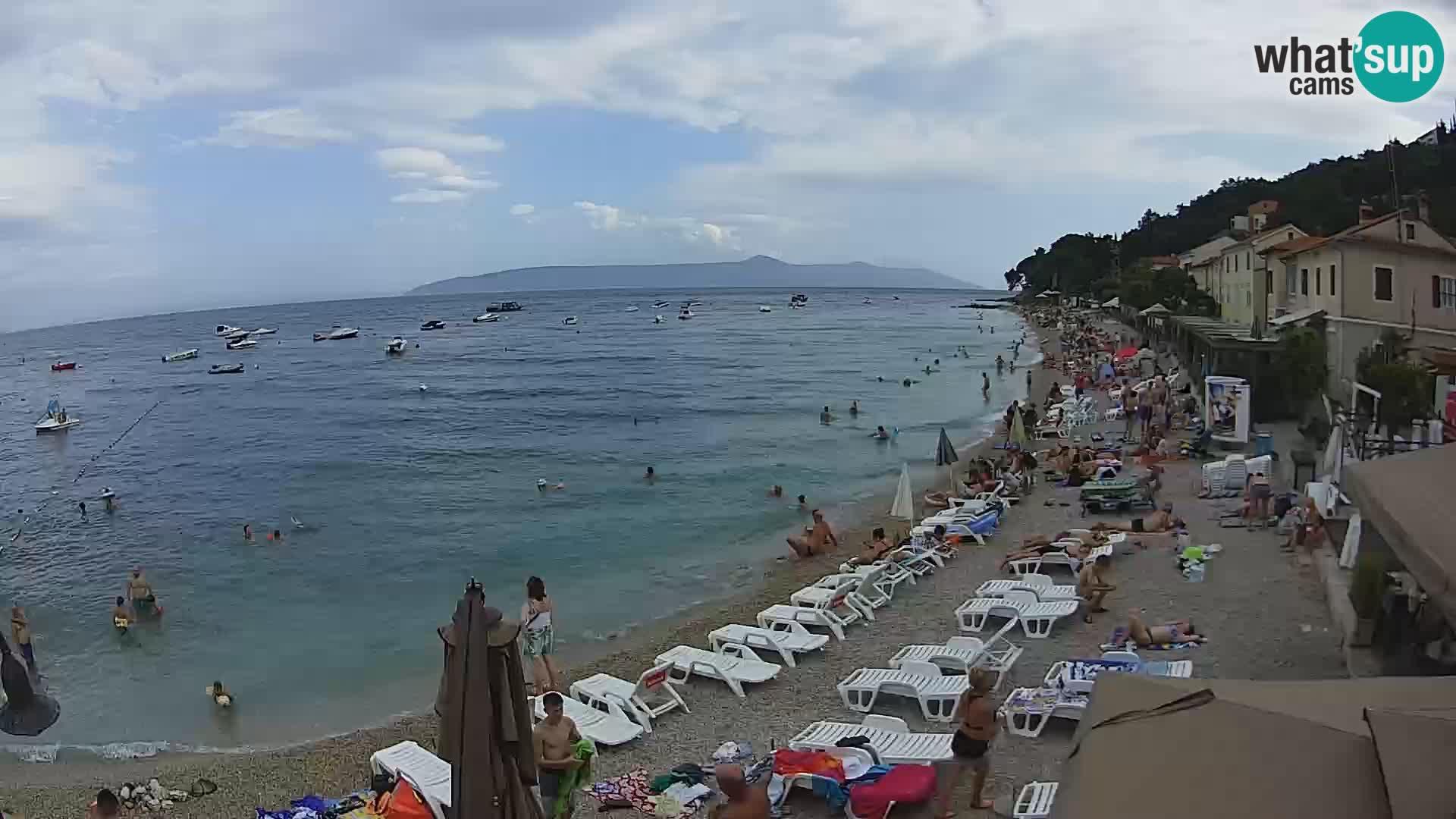 Mošćenička Draga webcam beach
