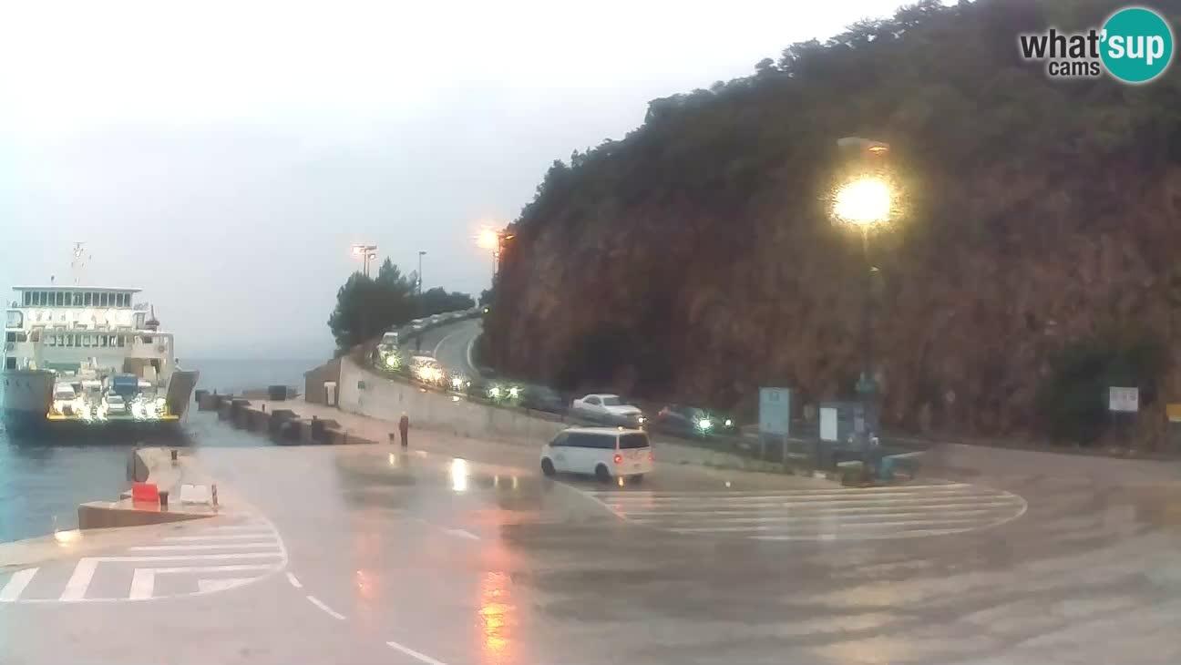 Webcam Cres – Ferry port Merag – Krk on Cres island