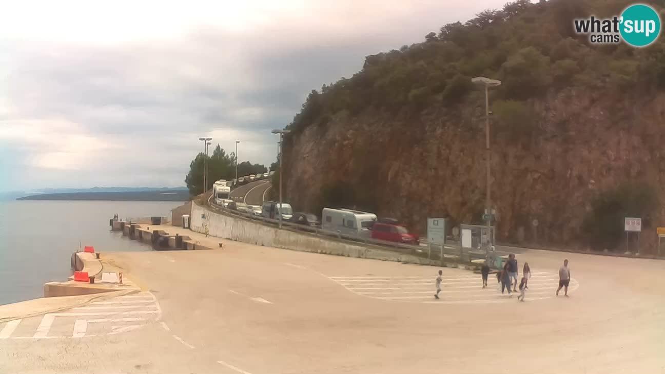 Webcam isla de Cres – puerto del transbordador Merag – Krk