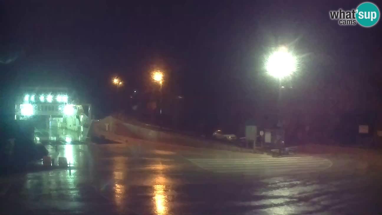 Spletna kamera Cres – Trajekno pristanišče Merag – Krk