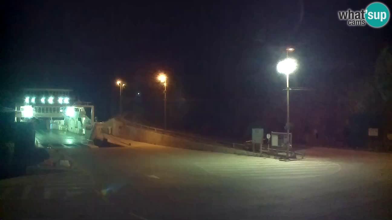 Webcam isola di Cherso – Porto traghetto Merag – Veglia